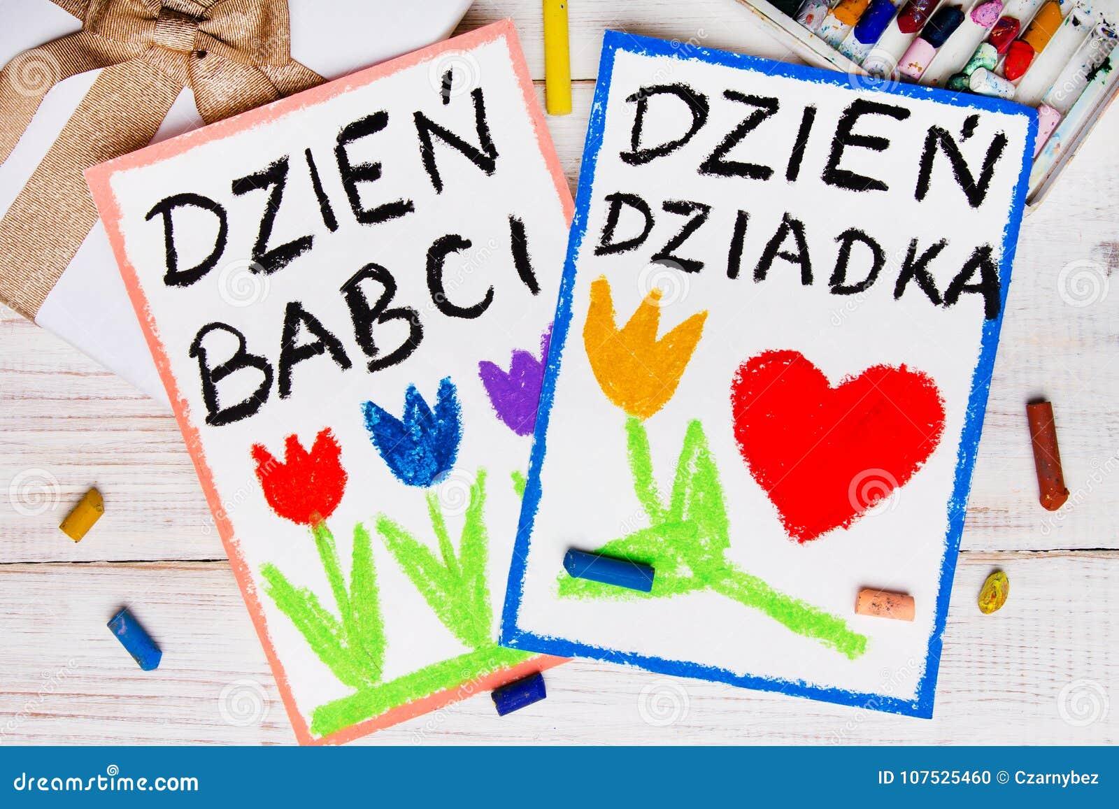 Carte première génération polonaise de jour du ` s et de jour de grands-mères