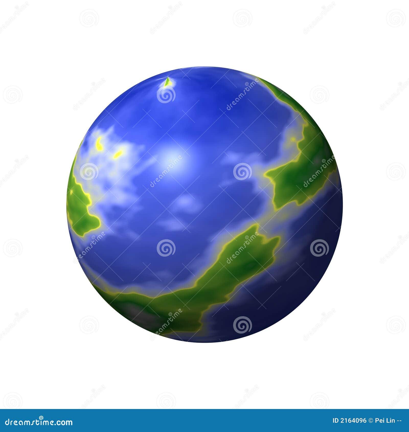 Carte ronde du monde