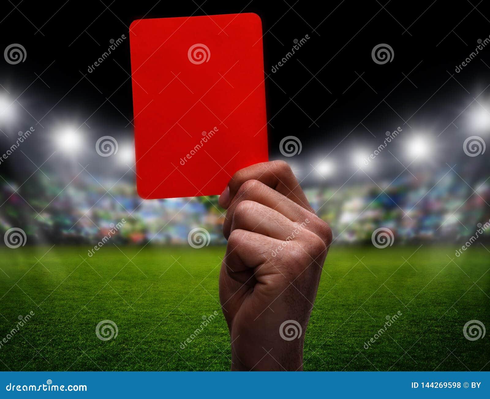 Carte rouge au football