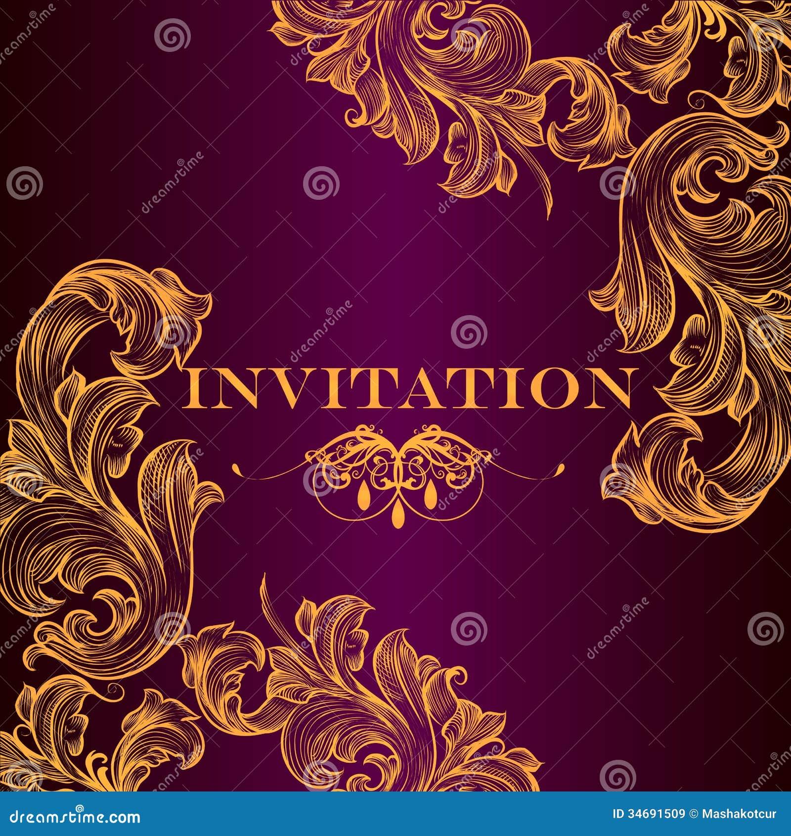 Vintage Wedding Invitation Designs for best invitations template