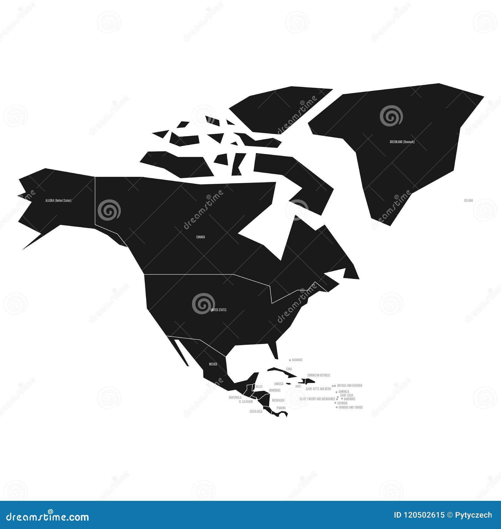 Carte Amerique Noir Et Blanc