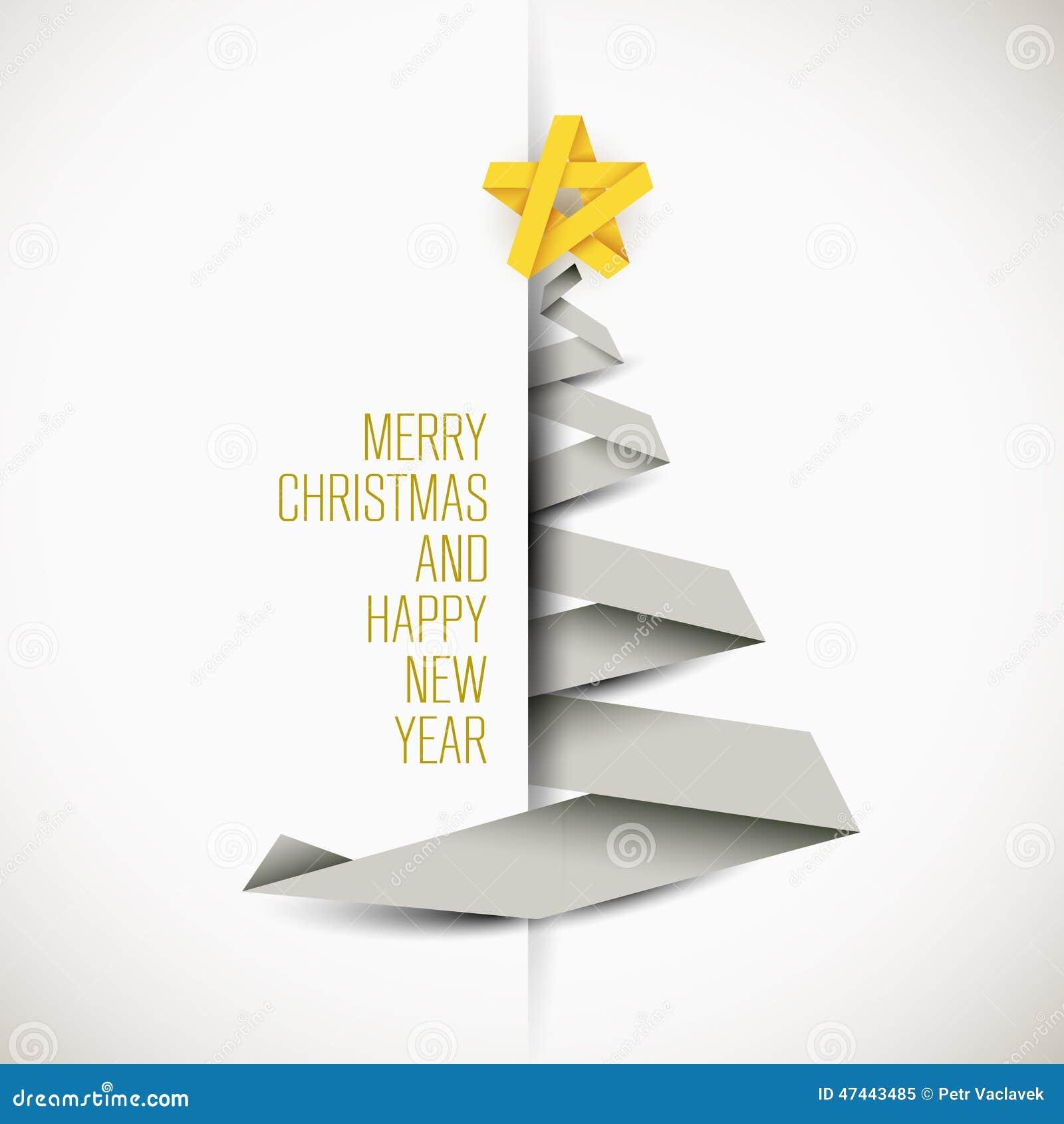 Carte simple de vecteur avec l arbre de Noël
