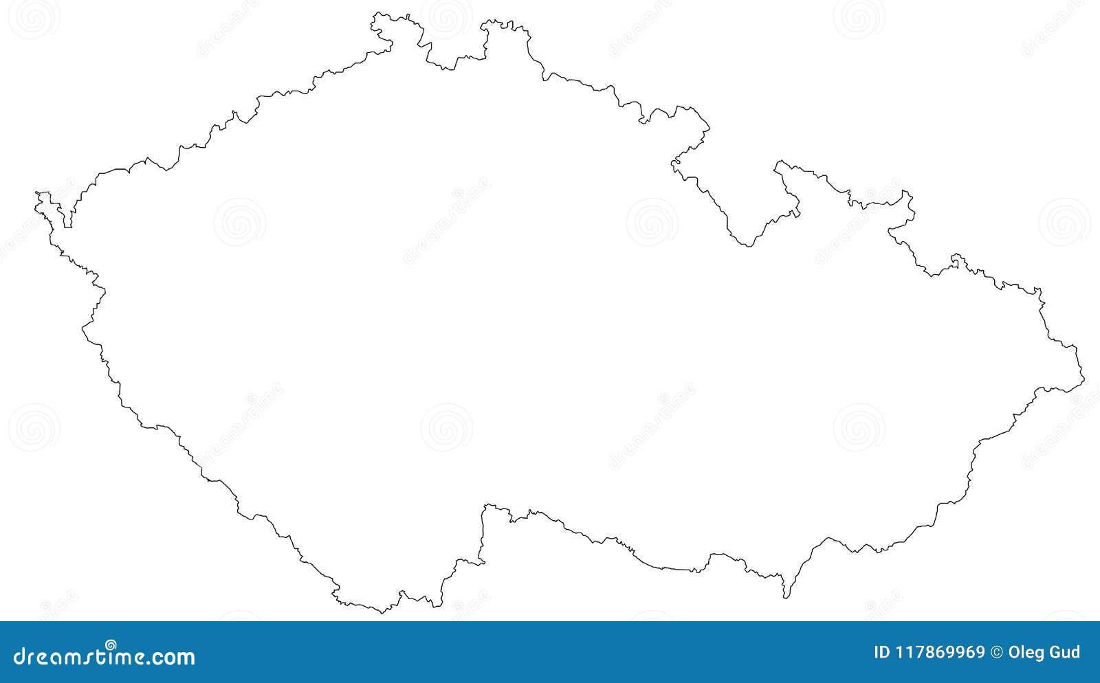 Carte vide de la République Tchèque