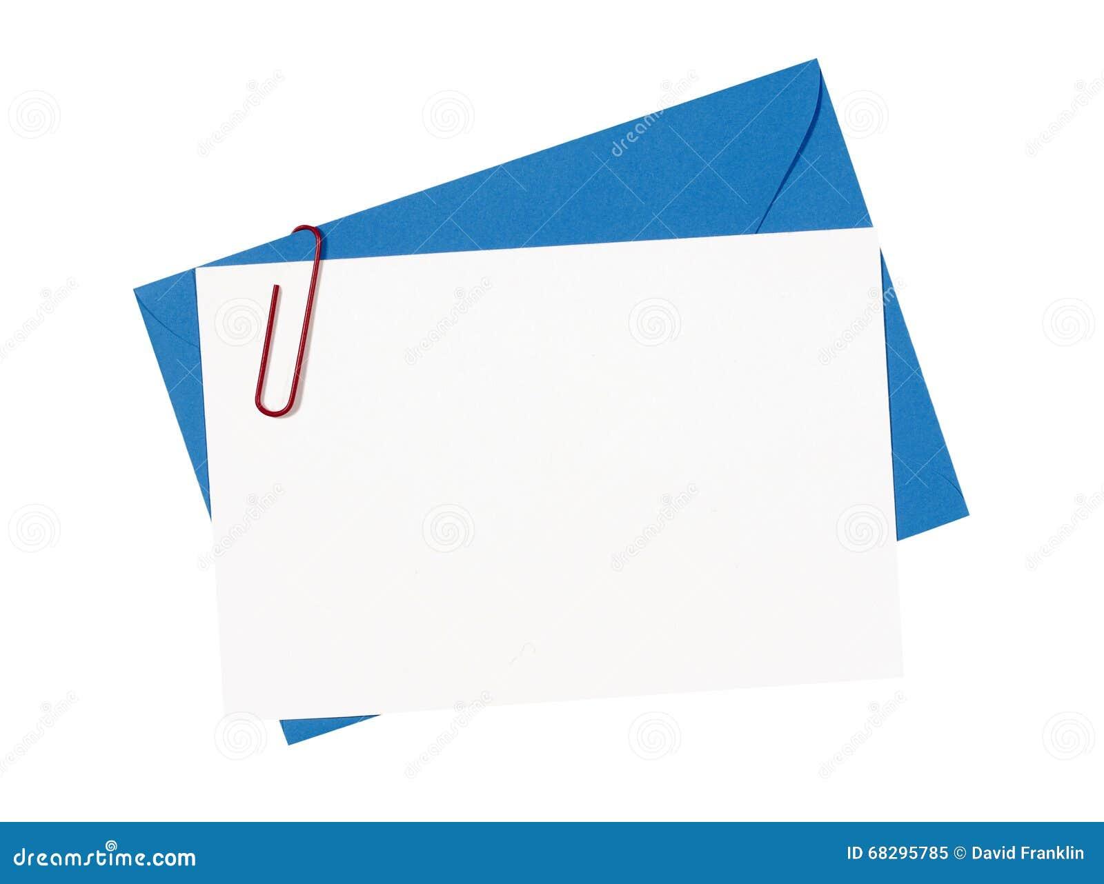 Préférence Carte Vierge D'invitation D'anniversaire Avec L'enveloppe Bleue Et  OT99