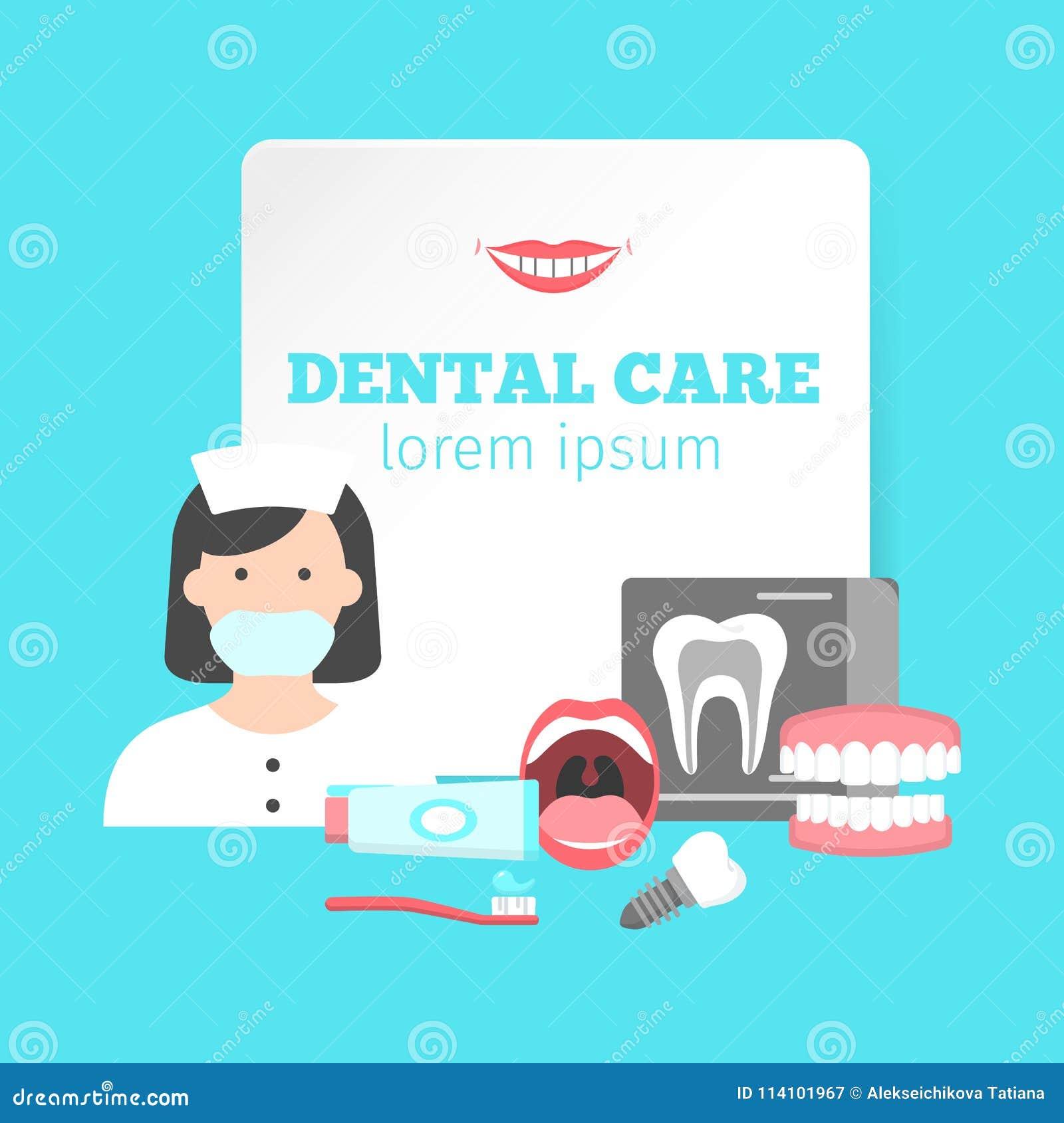 Cartel con los iconos de los servicios dentales de la clínica