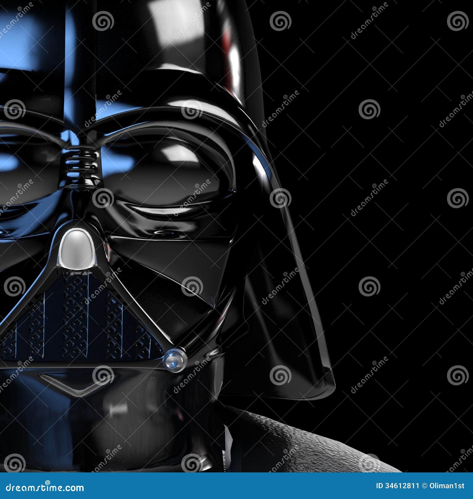 Cartel 3d de la máscara de Vader ilustrado