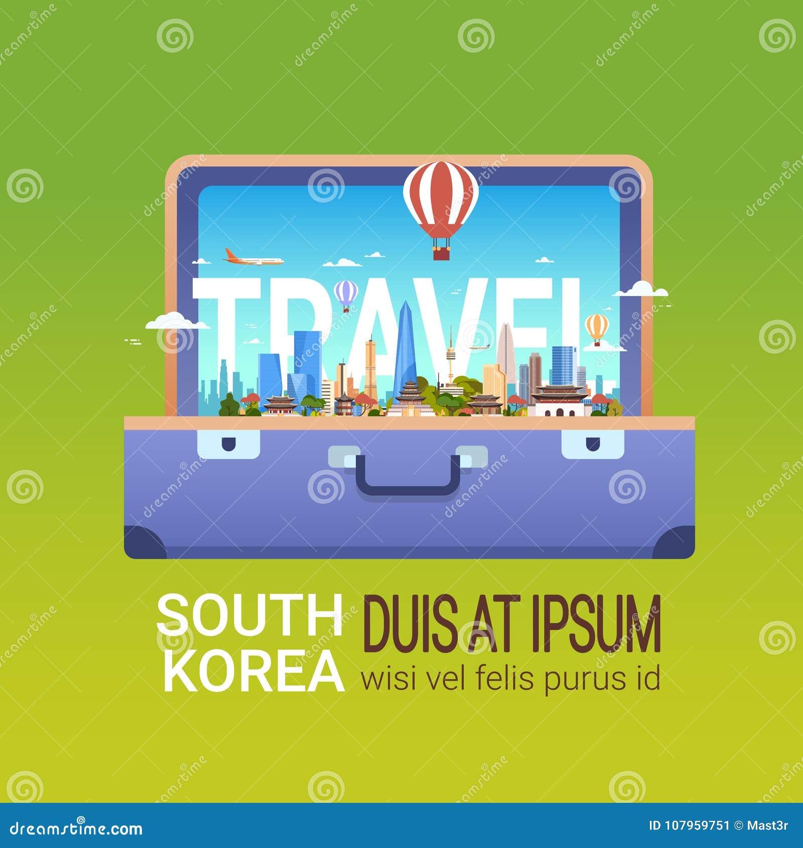 Cartel De La Corea Del Sur Del Viaje Del Concepto Del Turismo Y De ...