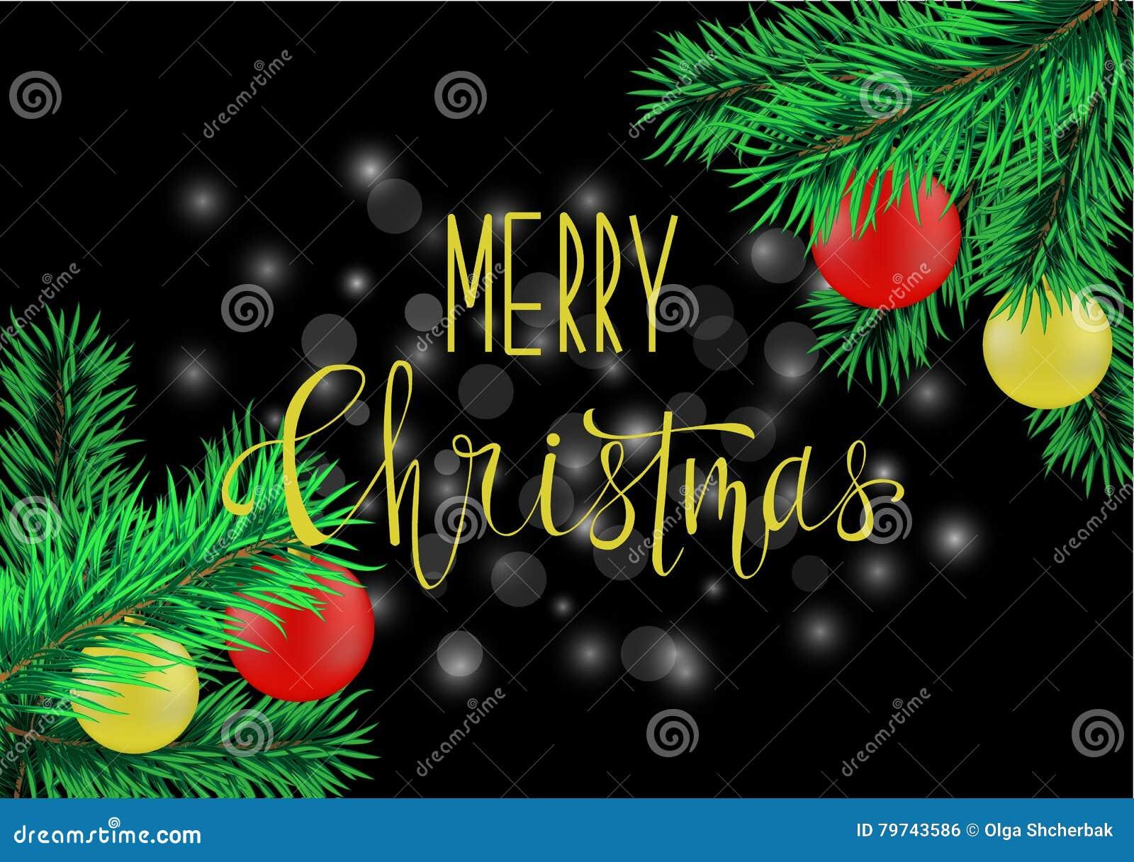 Cartel de la Navidad con las letras de la mano