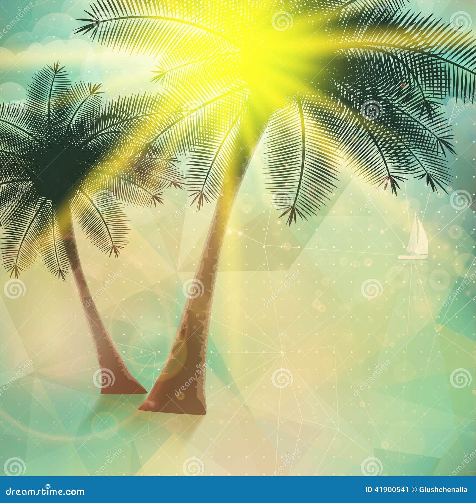 Cartel de la opinión de la playa Extracto geométrico