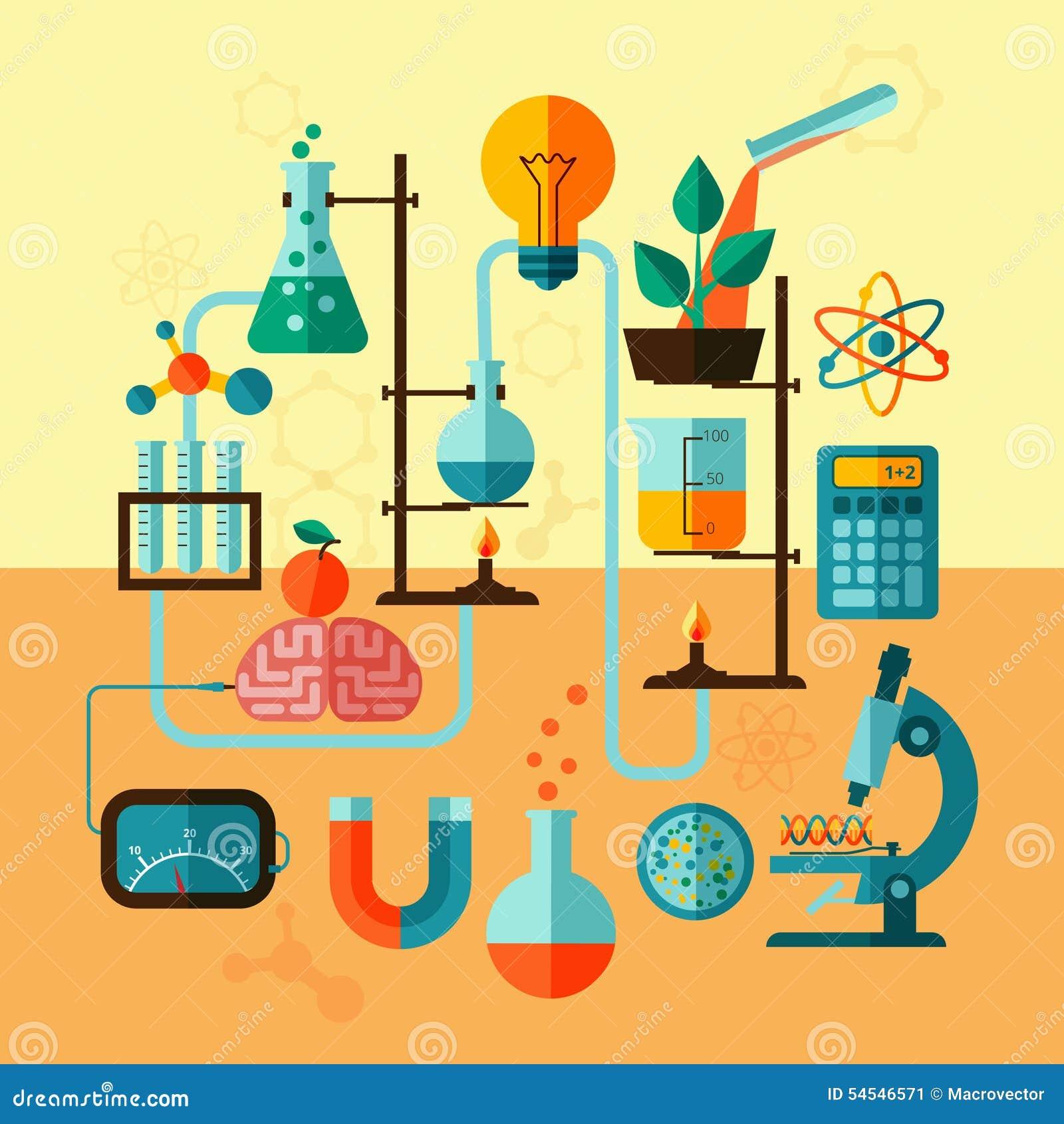 Cartel De La Plantilla Del Laboratorio De Investigación Científica ...