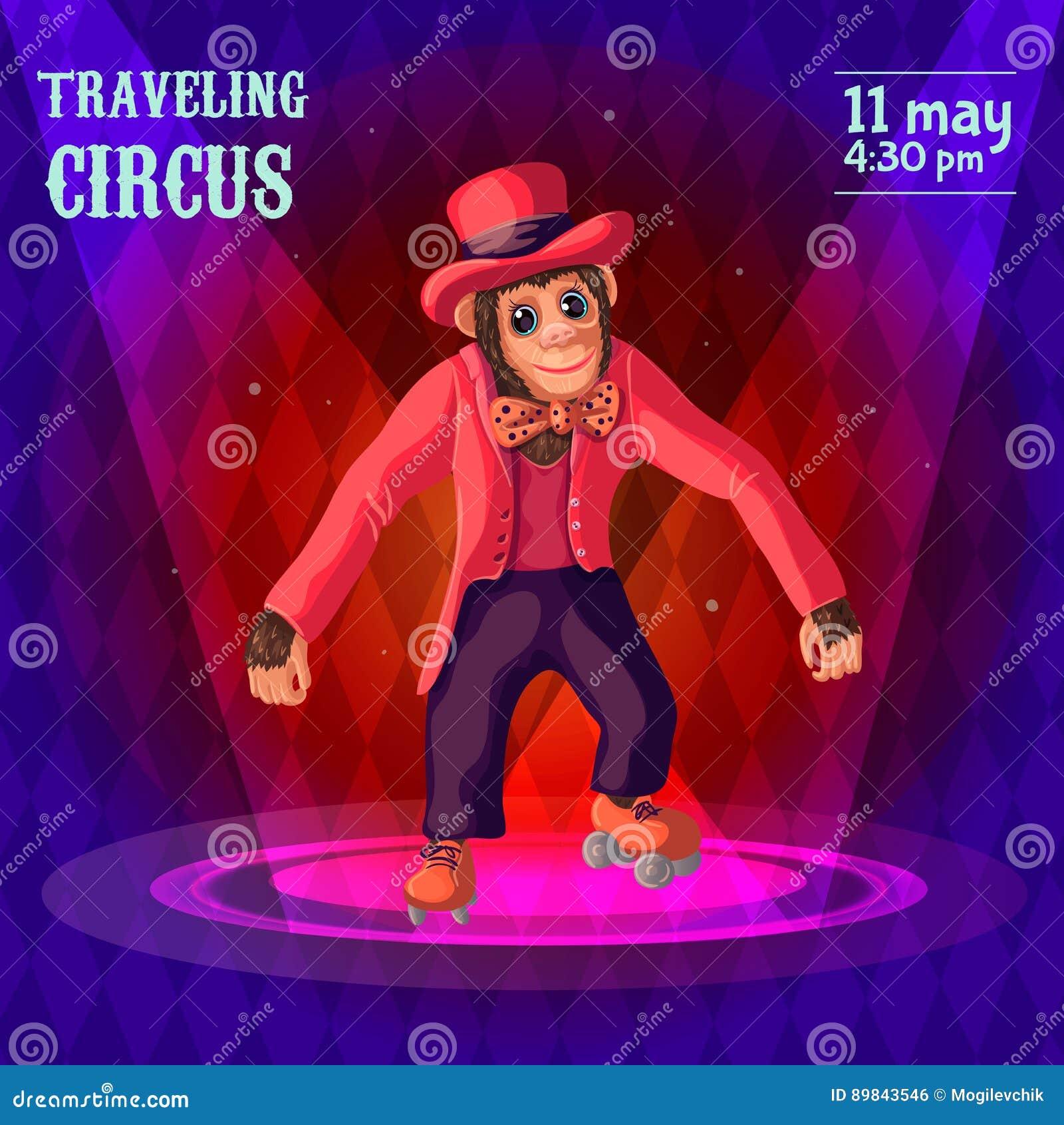 Cartel de la publicidad del circo que viaja