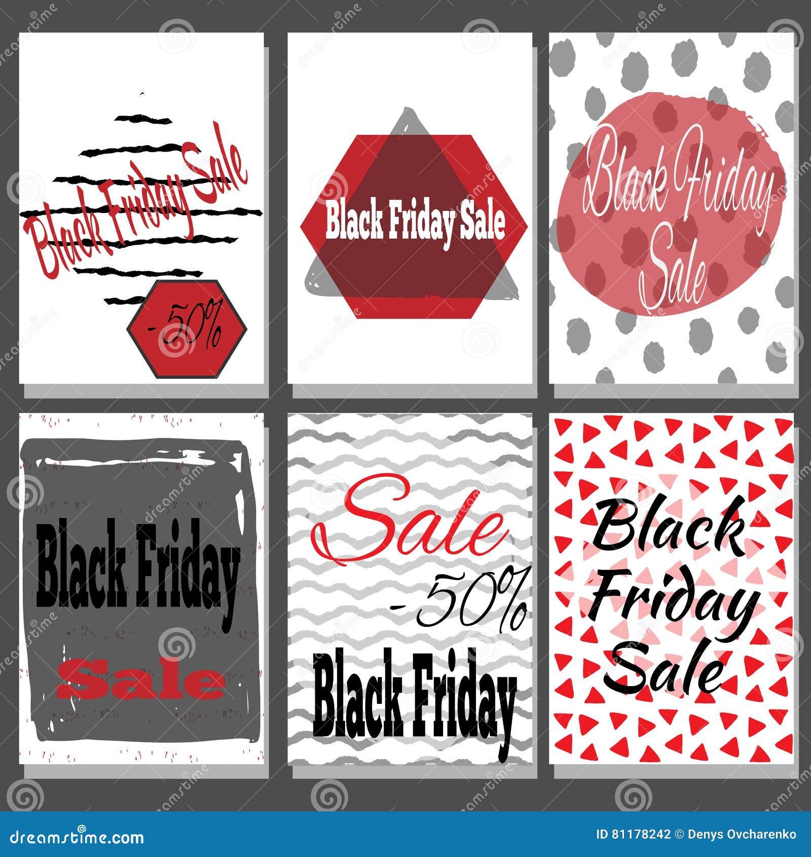 Cartel de la venta de Black Friday con letras