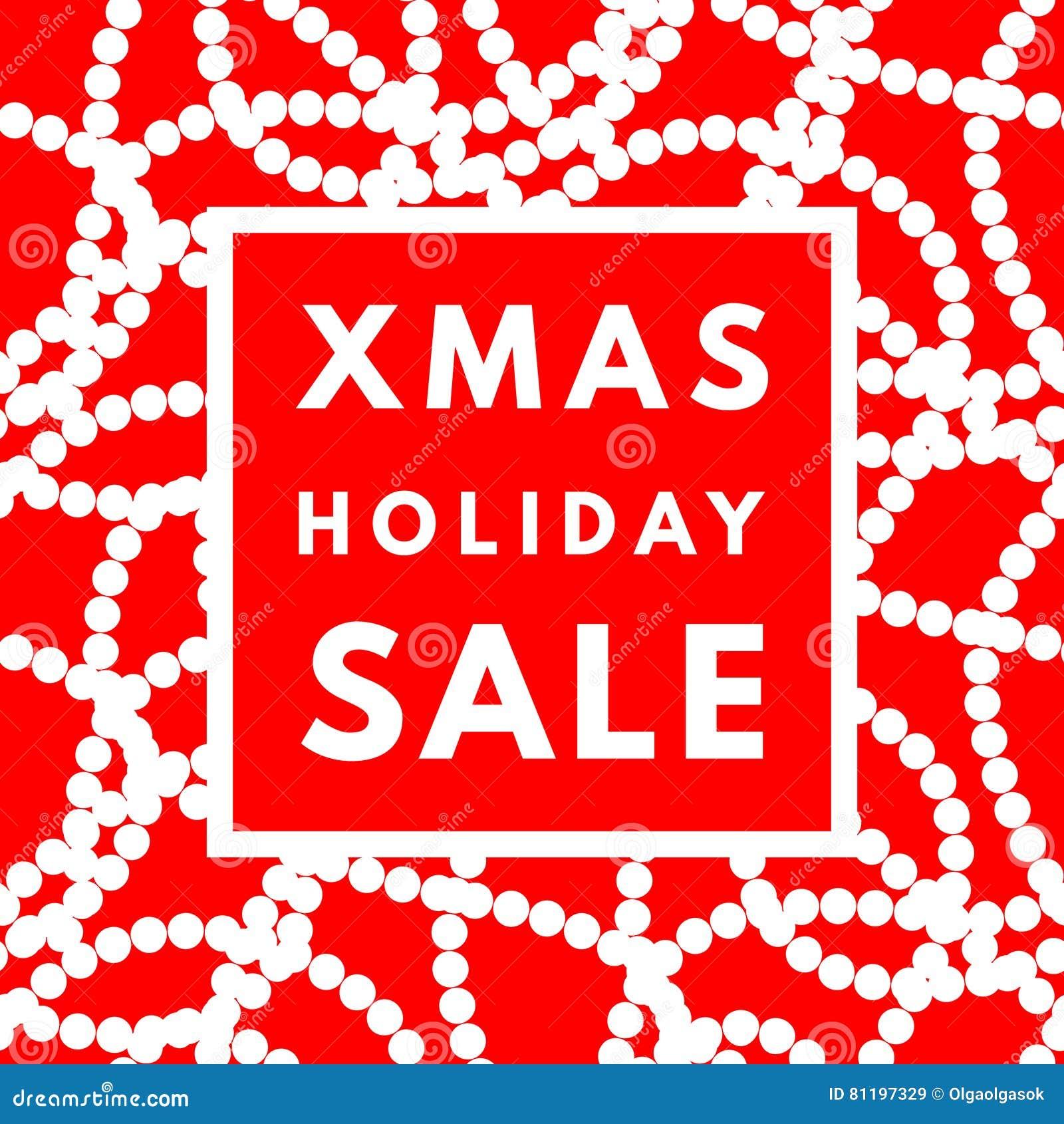 Cartel de la venta del día de fiesta de la Navidad