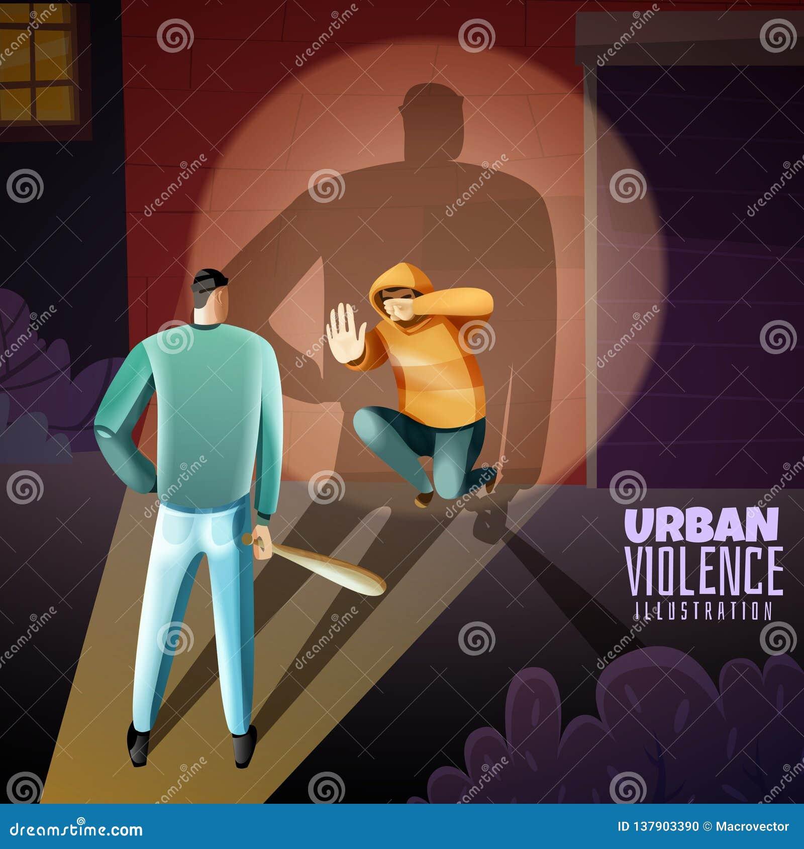Cartel de la violencia del crimen