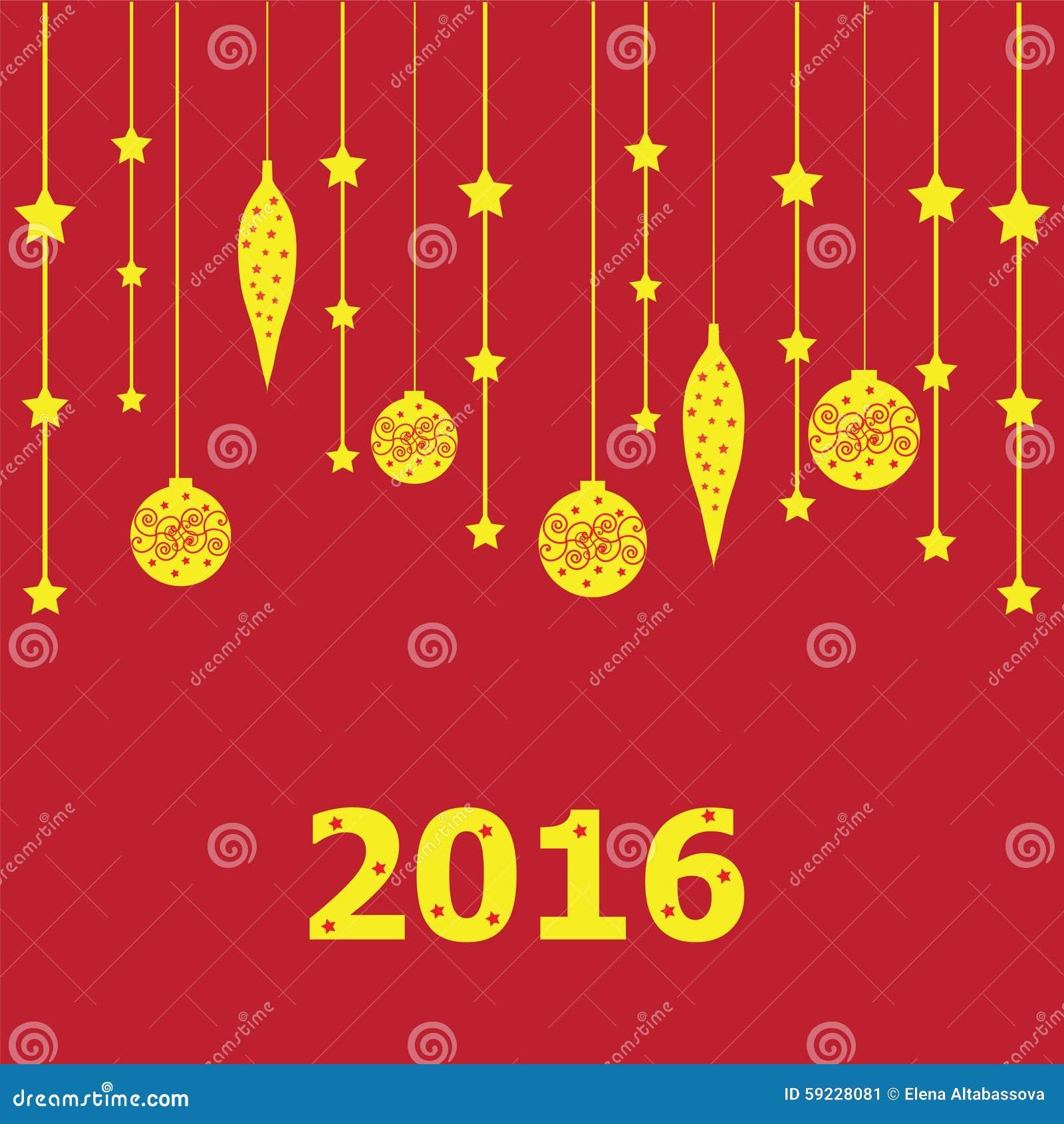 Download Cartel del Año Nuevo stock de ilustración. Ilustración de coloreado - 59228081
