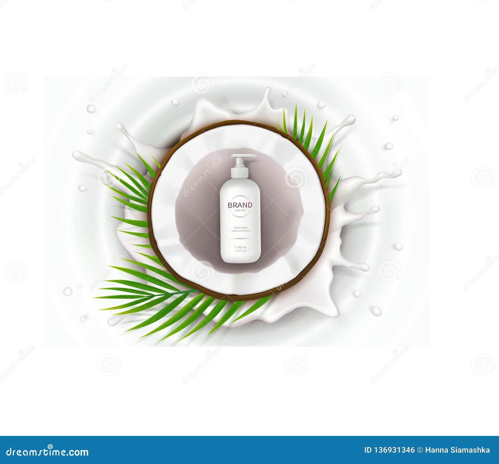 Cartel del concepto para la crema natural orgánica