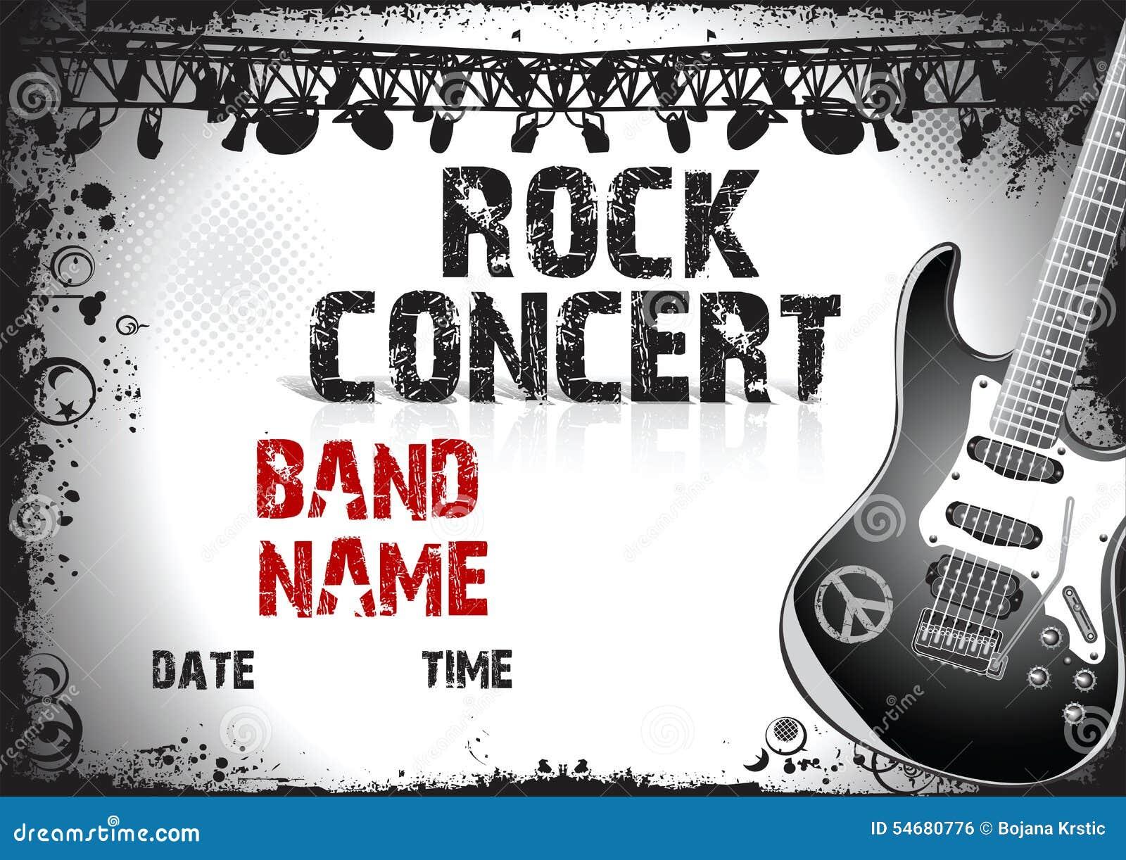 Cartel Del Concierto De Rock Stock de ilustración - Ilustración de ...