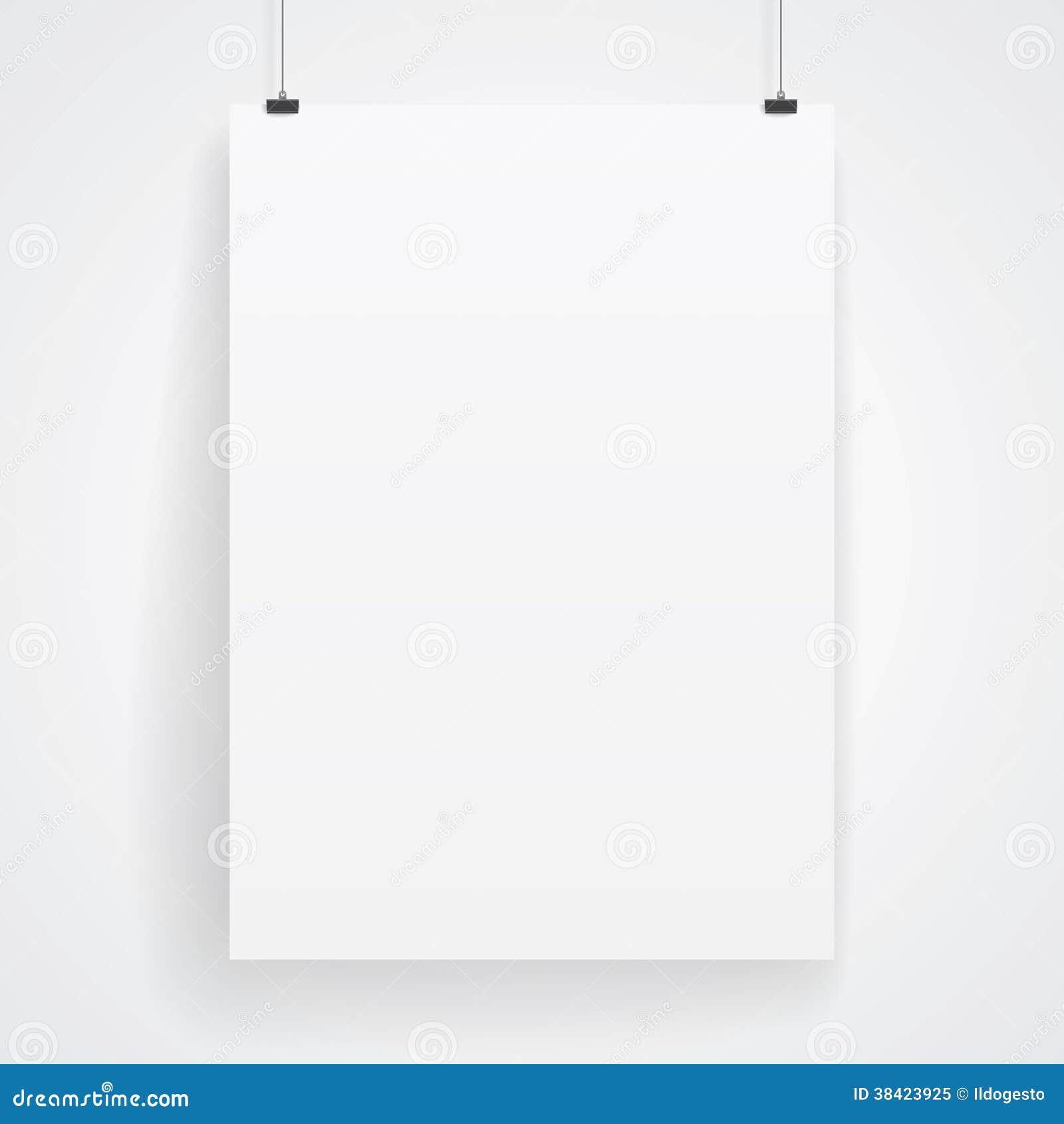 Cartel del papel en blanco