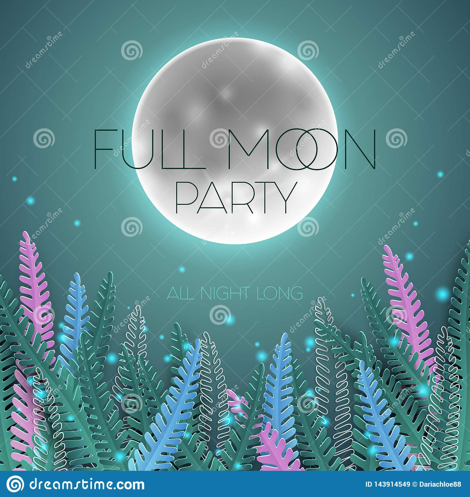 Cartel del partido de la Luna Llena