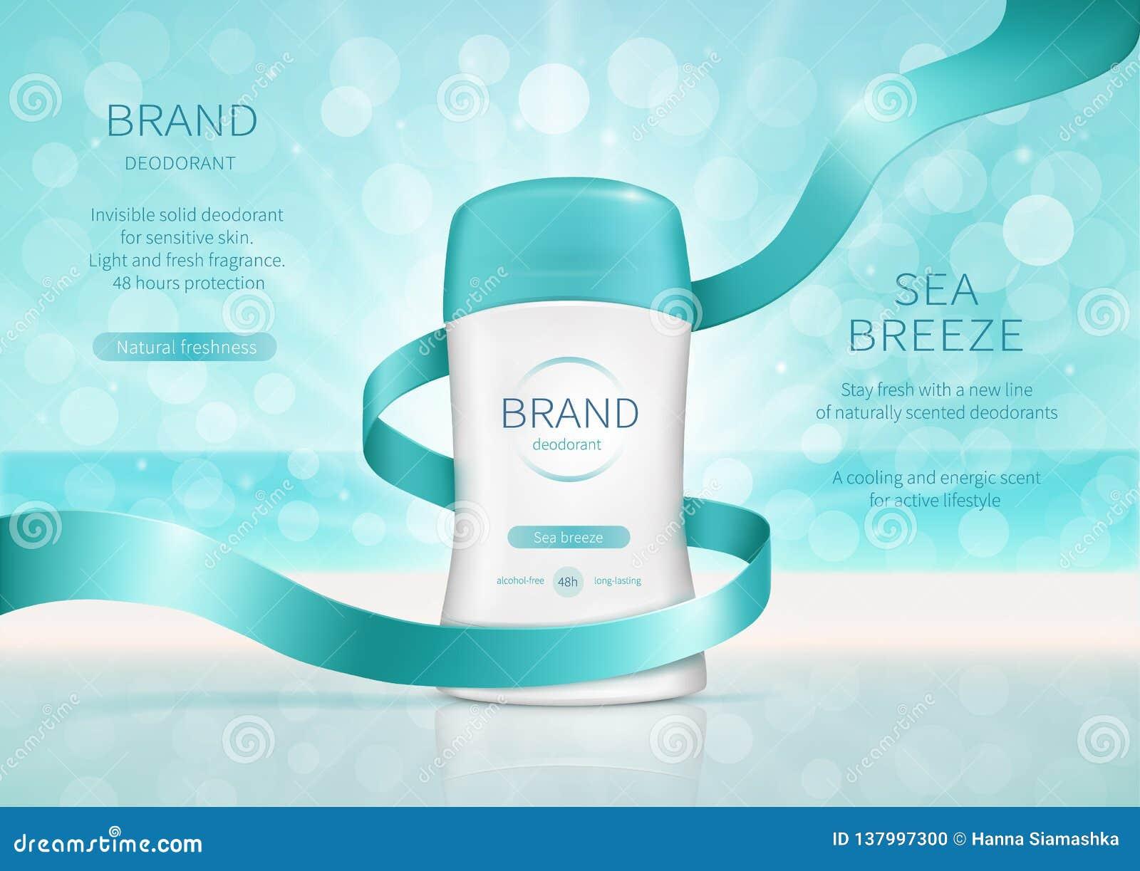 Cartel del promo para el desodorante seco del palillo