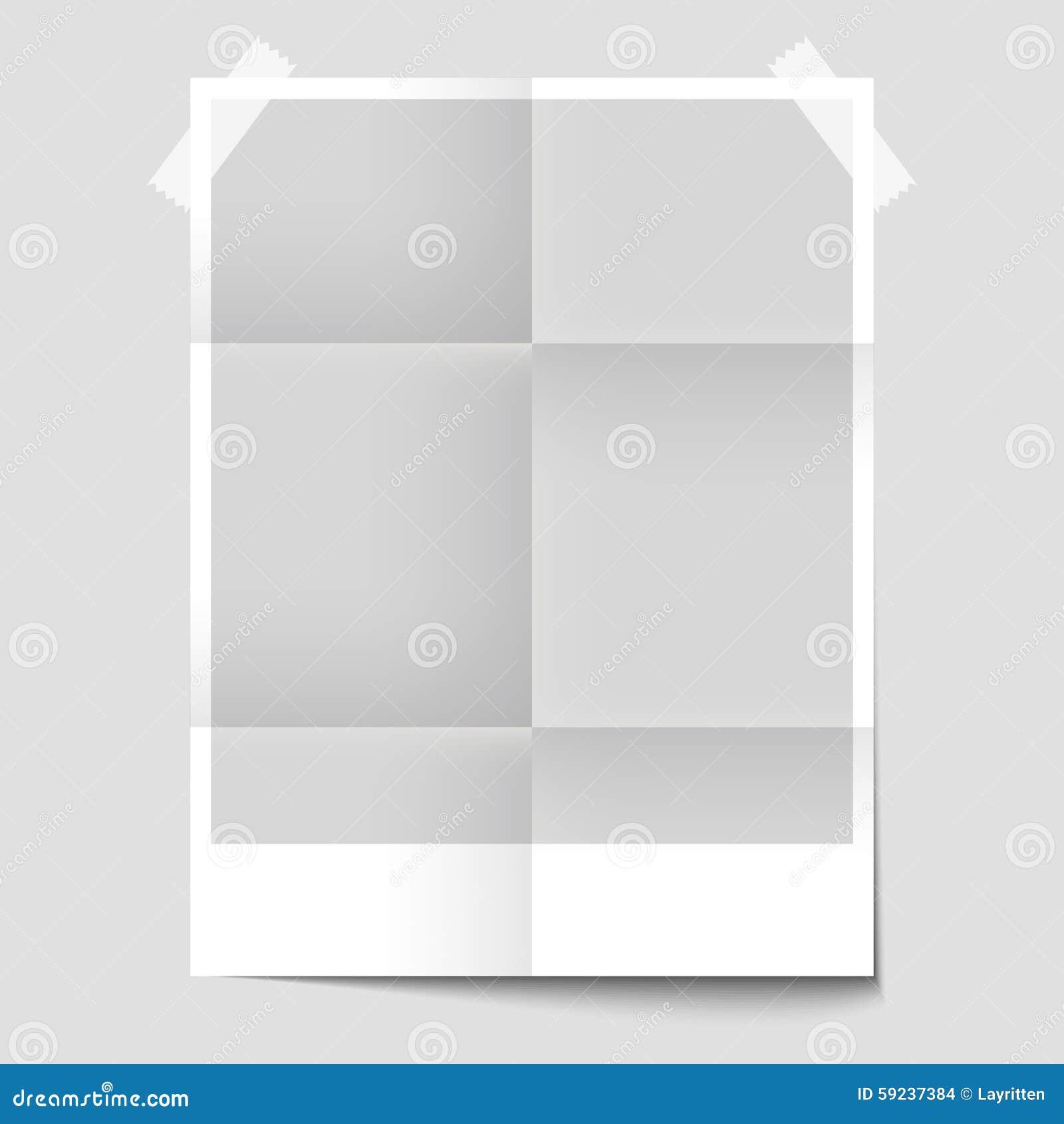 Cartel en blanco aislado para la presentación del diseño