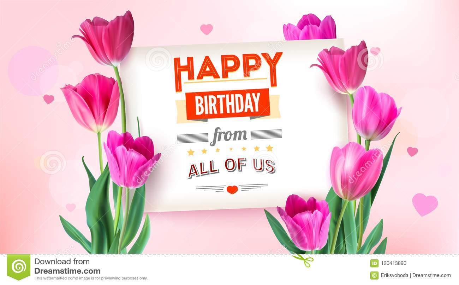 4c721caa6 Cartel floral del feliz cumpleaños con diseño de letras Fondo del  cumpleaños con las flores de