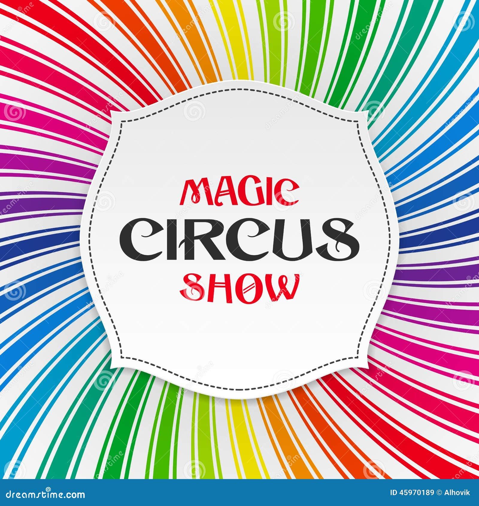 Cartel mágico de la demostración del circo, fondo