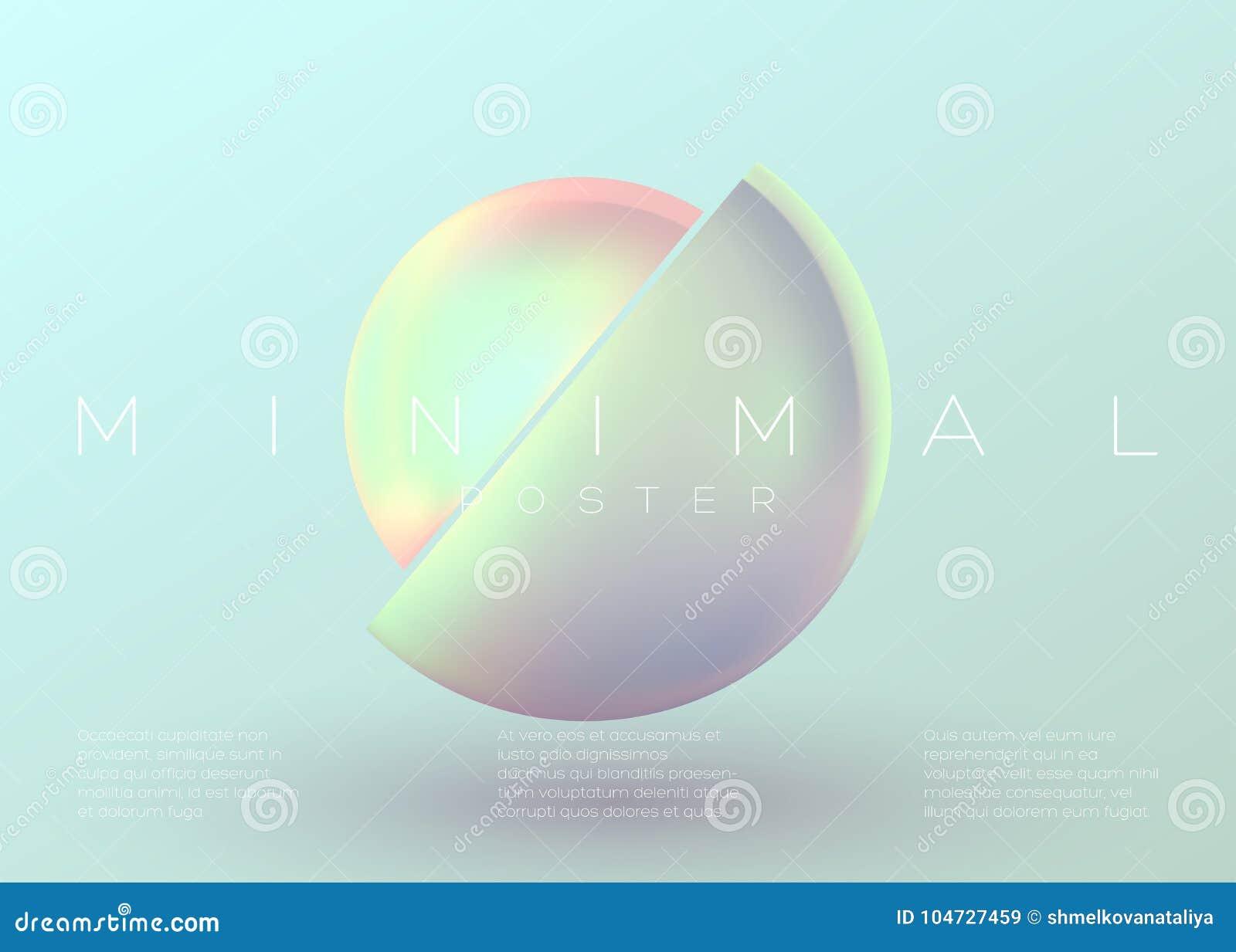 Cartel mínimo de moda del vector Fondo vibrante en colores pastel