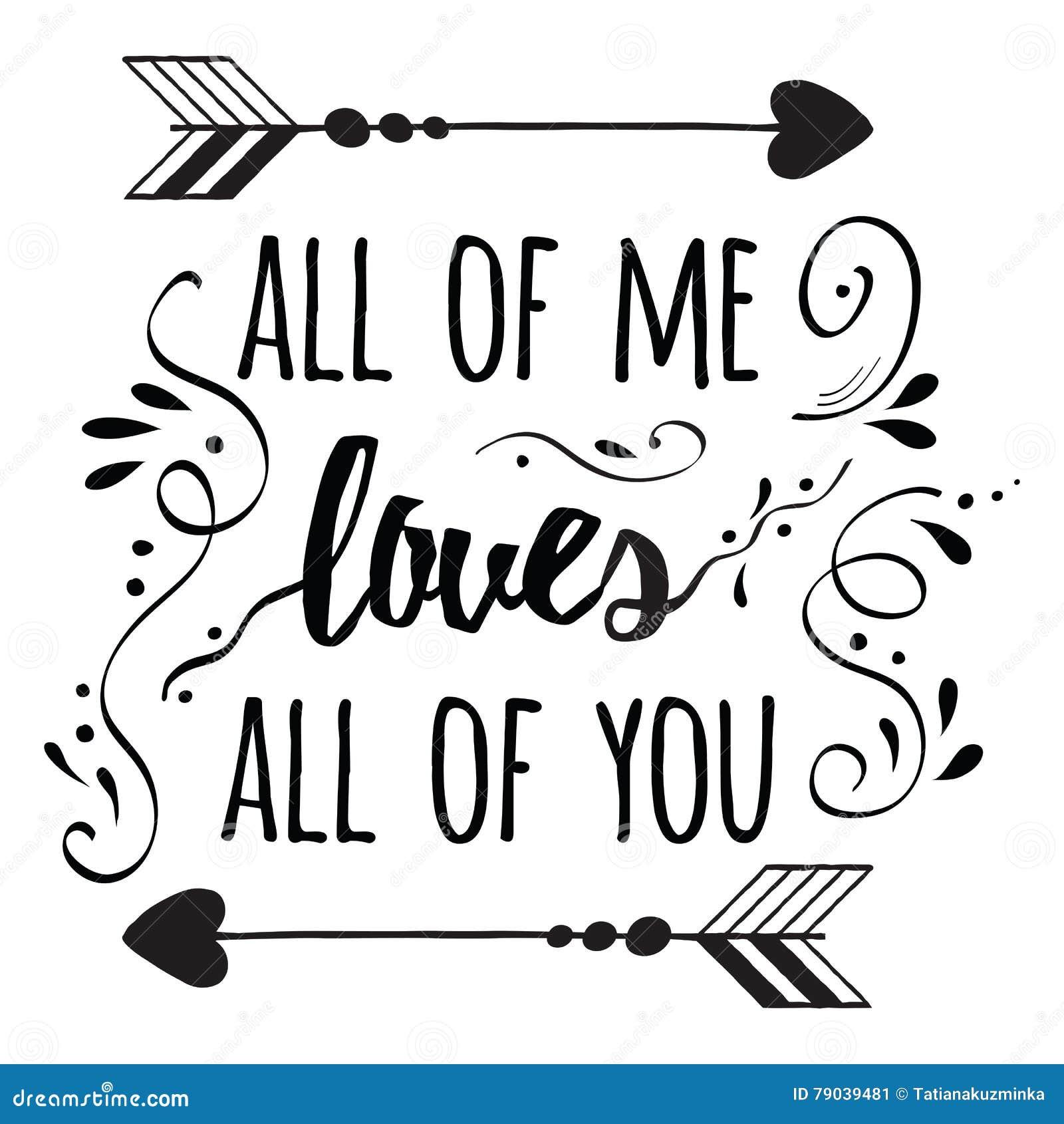 Cartel Romántico De La Tipografía Sobre Amor Cotización