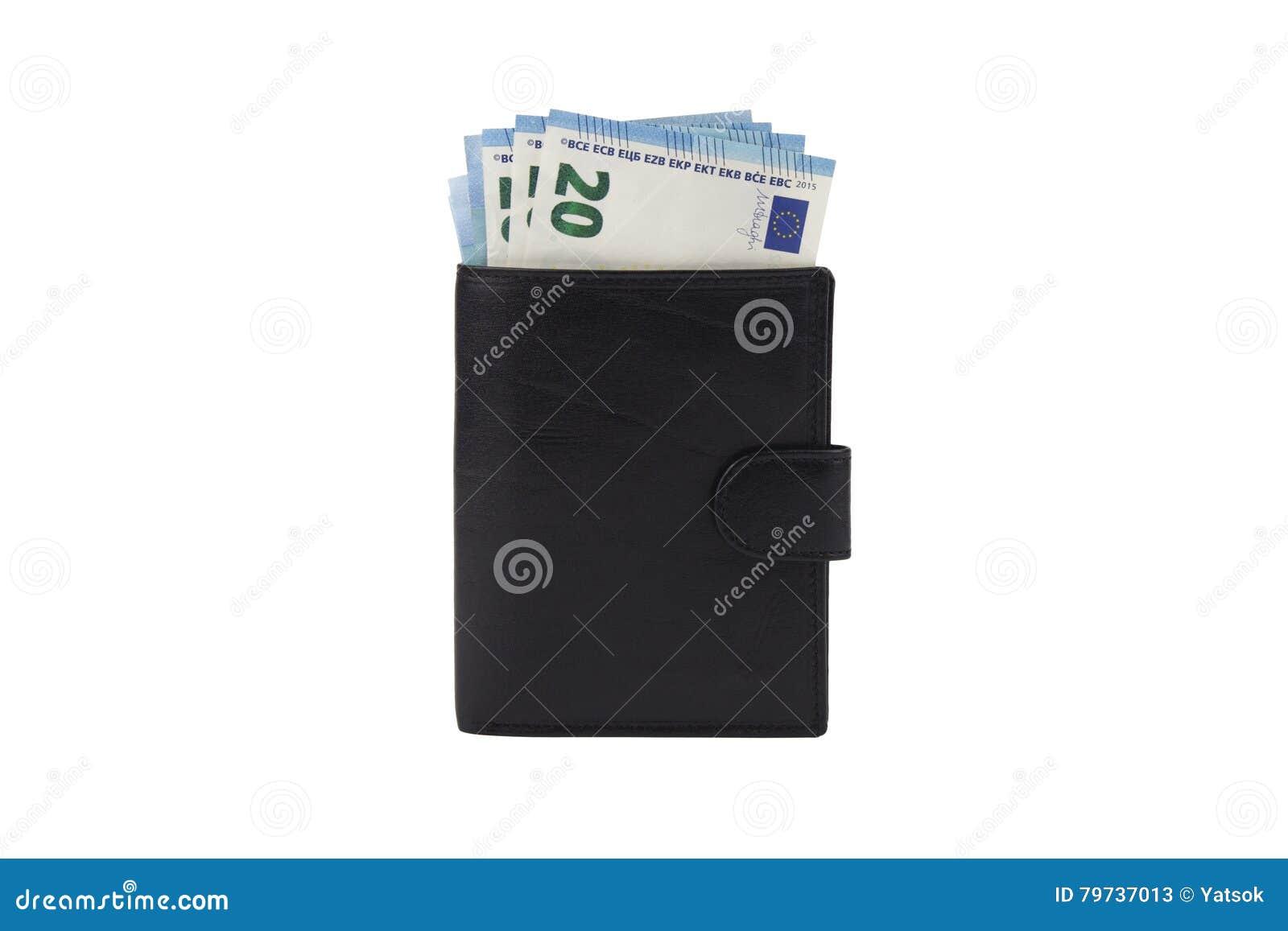 Cartera con moneda euro