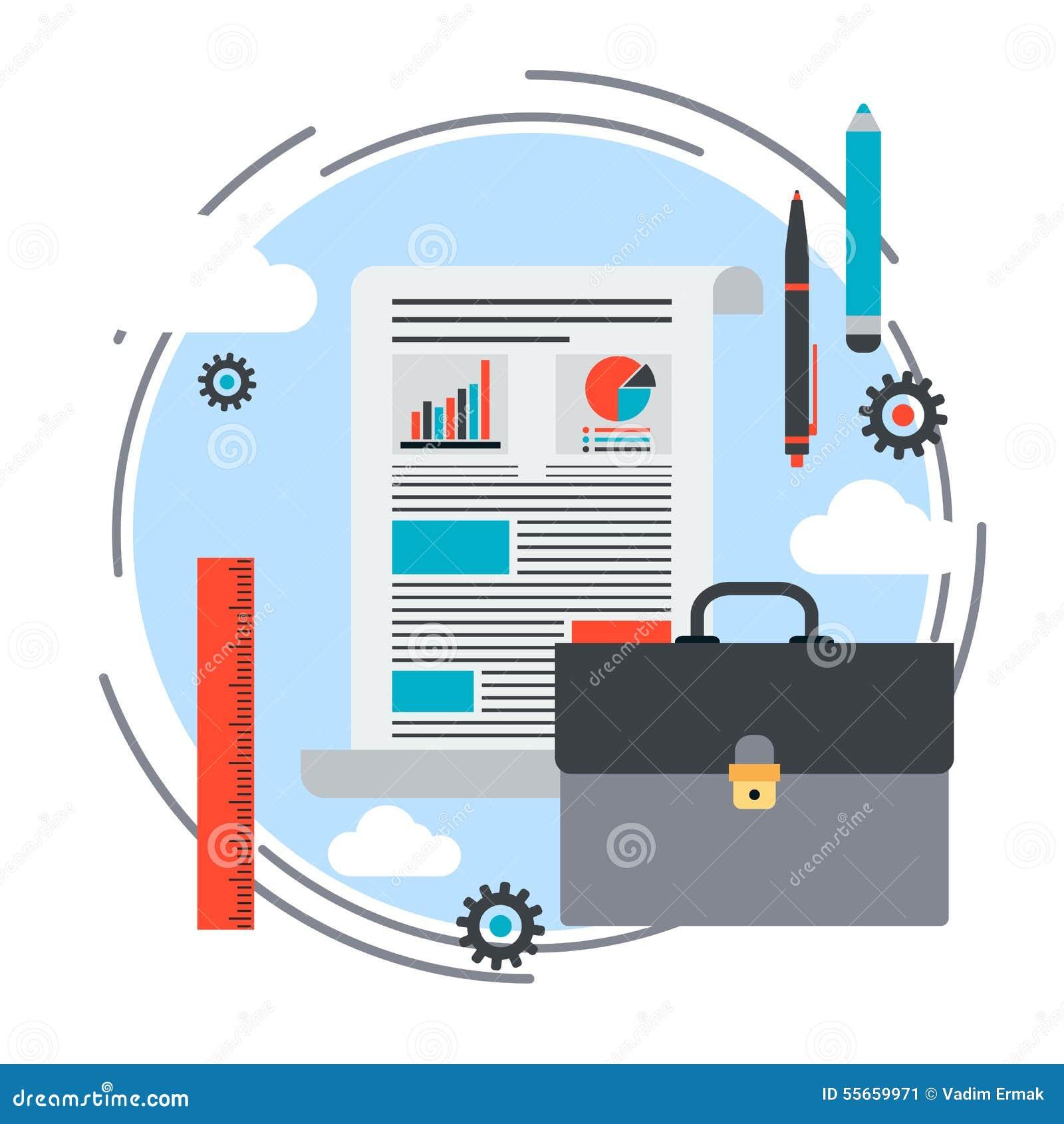Cartera plan empresarial informe concepto del vector - Fotos de proyectos ...