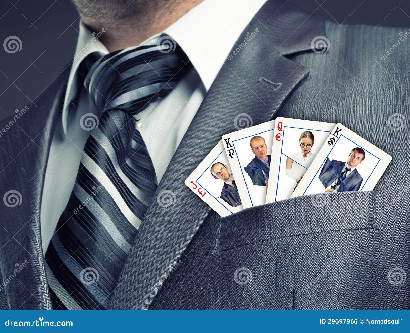 Cartes d équipe d affaires