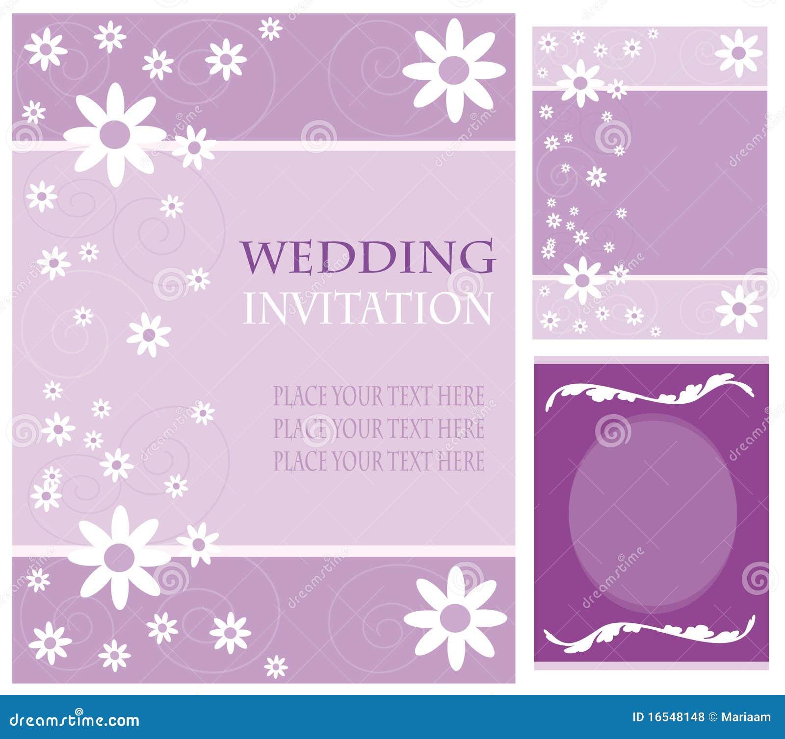 cartes d 39 invitation de mariage photos libres de droits image 16548148. Black Bedroom Furniture Sets. Home Design Ideas