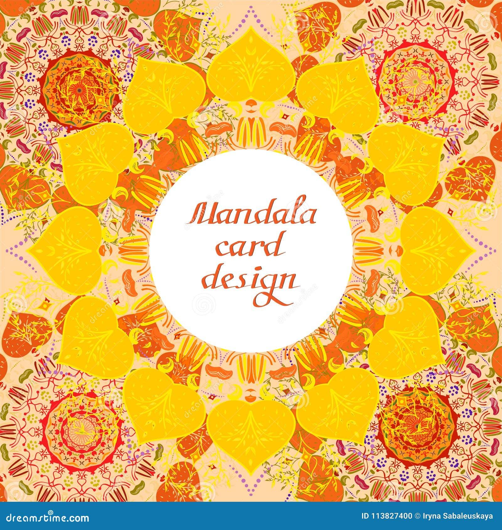 Cartes de conception de mandala d affaires Éléments décoratifs