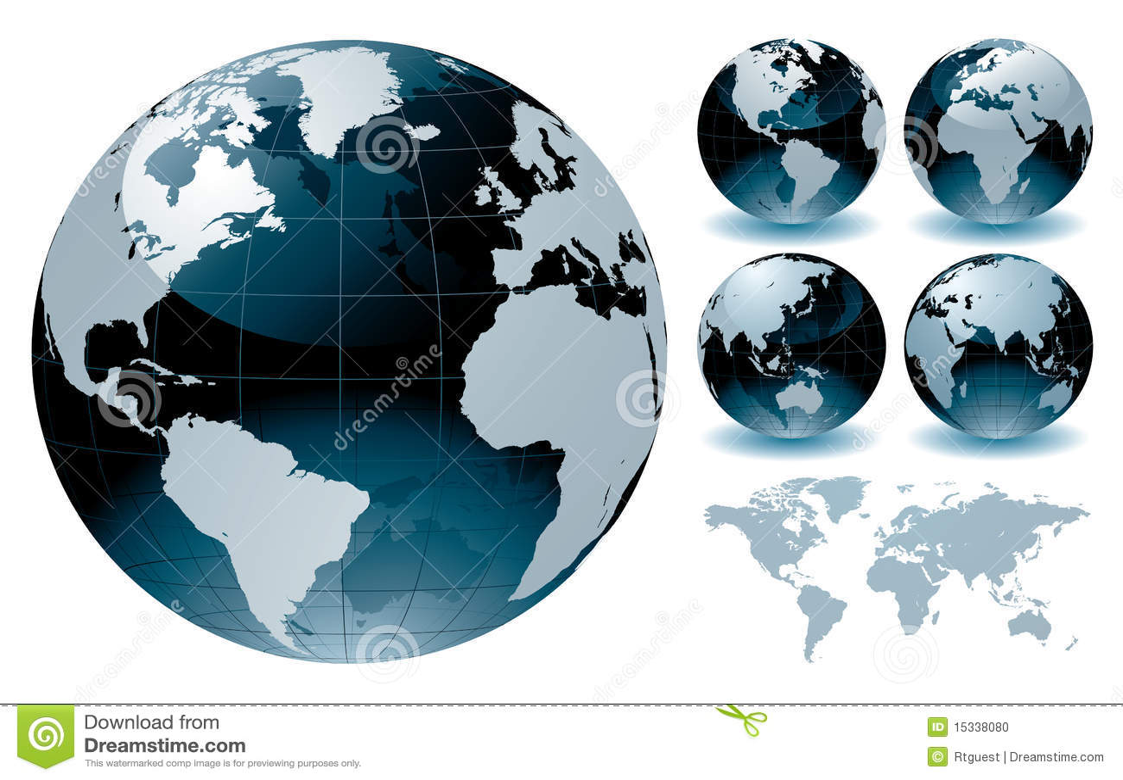 cartes de globe du monde illustration de vecteur illustration du dessin 15338080. Black Bedroom Furniture Sets. Home Design Ideas