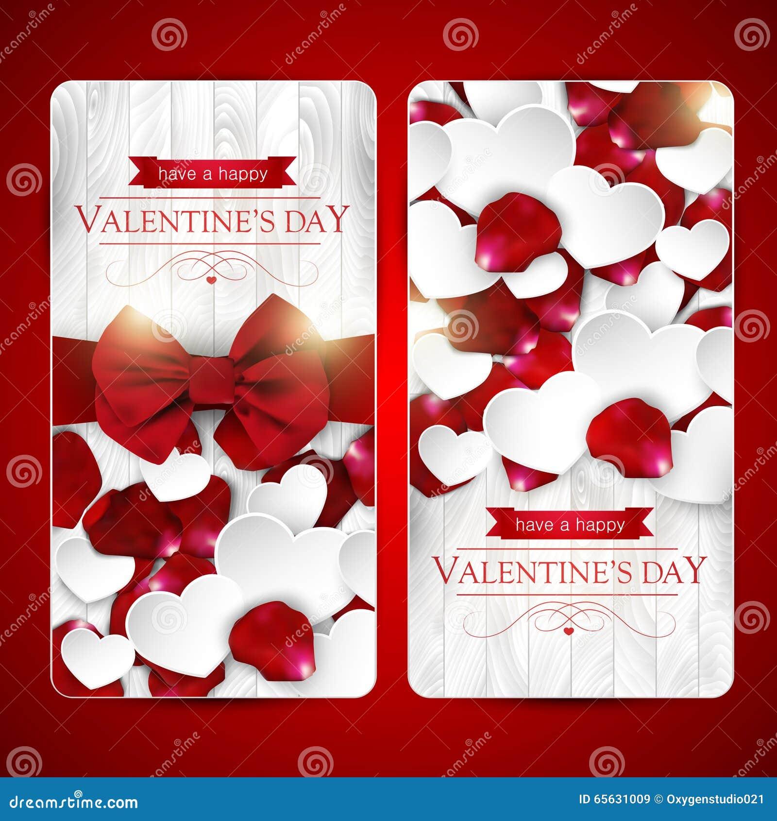 Cartes de jour de valentines avec l arc