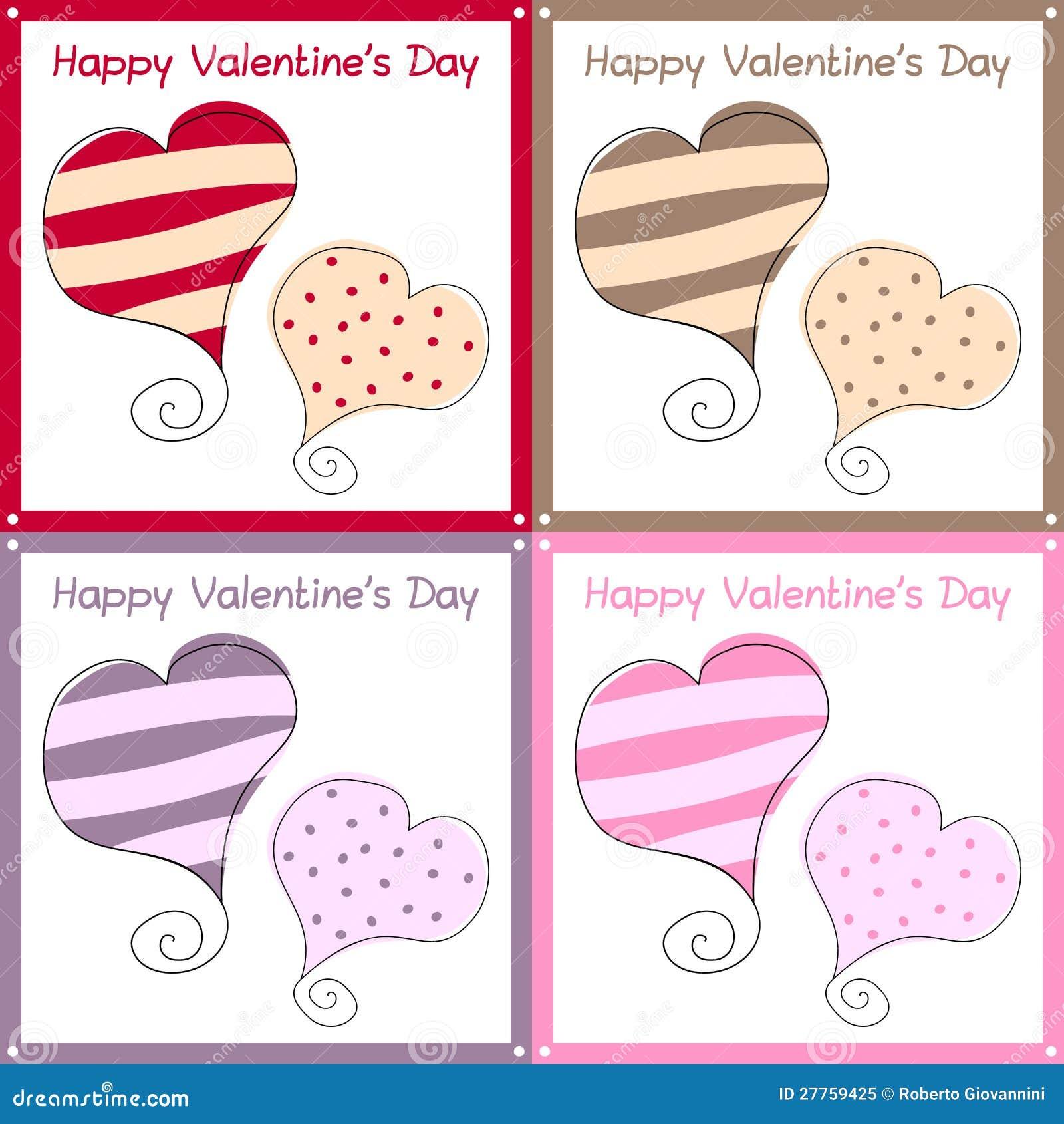 Cartes de jour de Valentines rétro