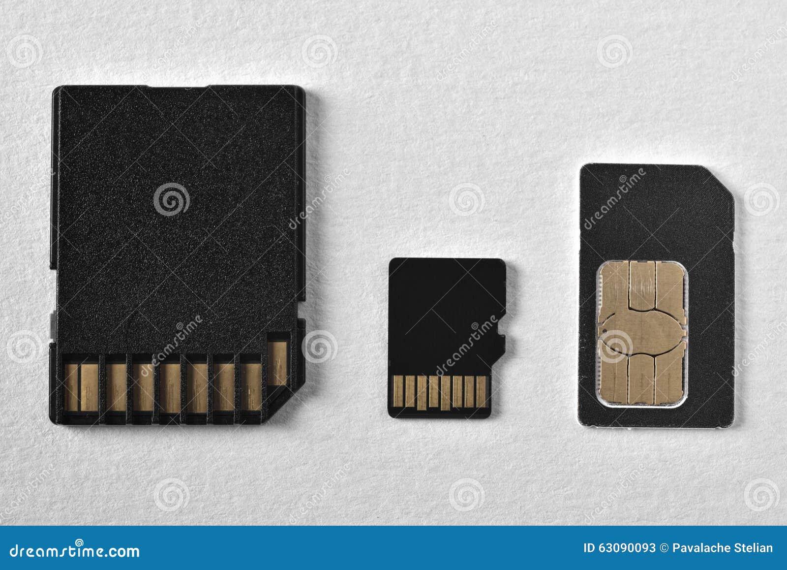 Download Cartes de mémoire image stock. Image du branchez, sauvegarde - 63090093