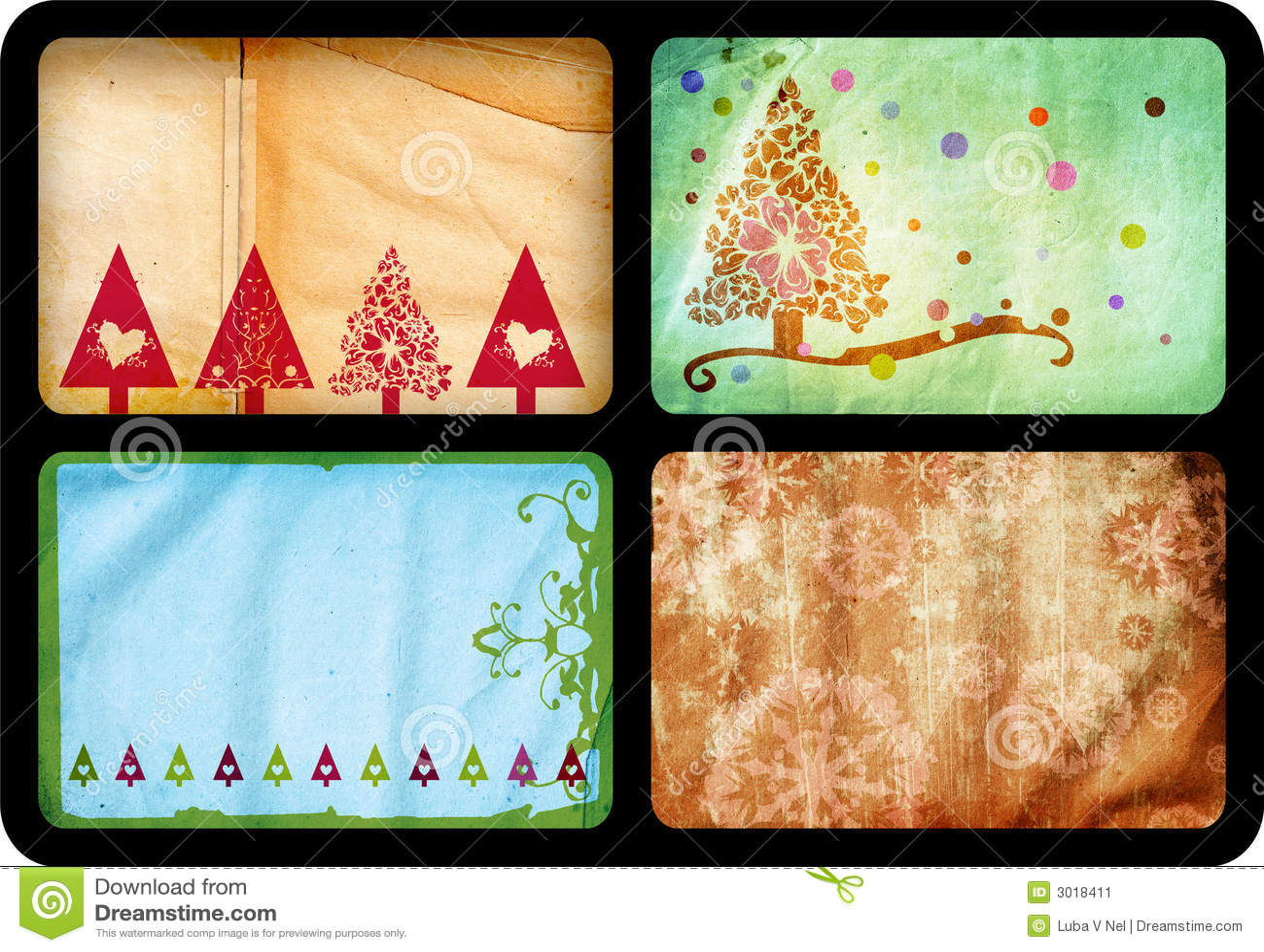 Cartes de Noël grunges
