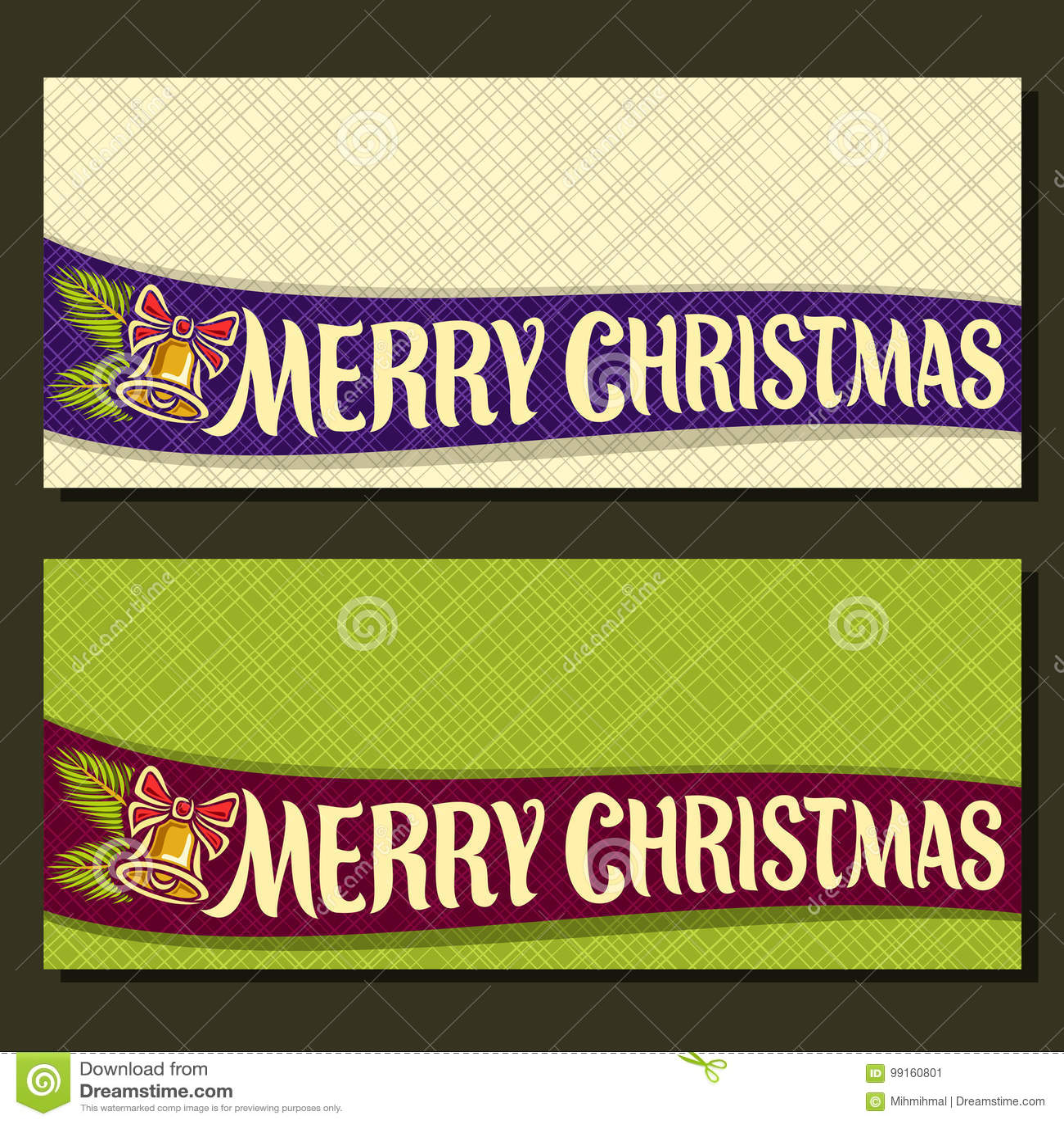 Cartes de Noël de vecteur
