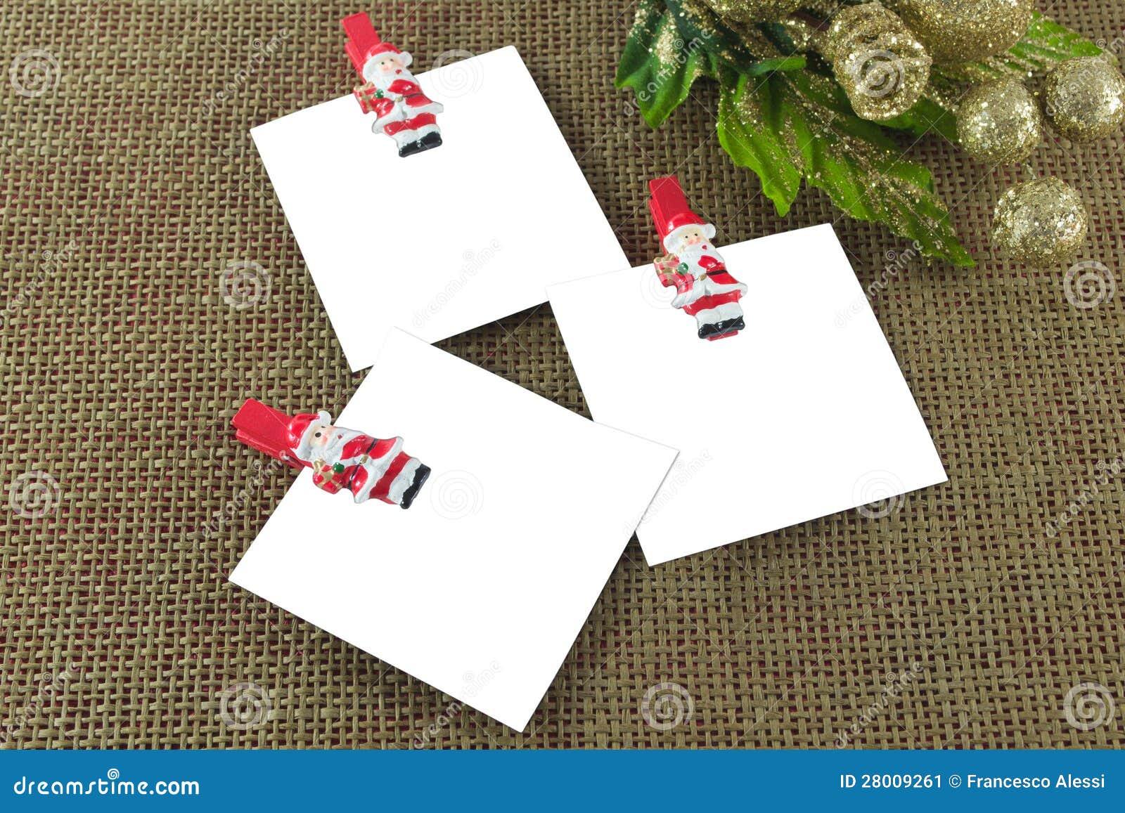 Cartes de note de Noël
