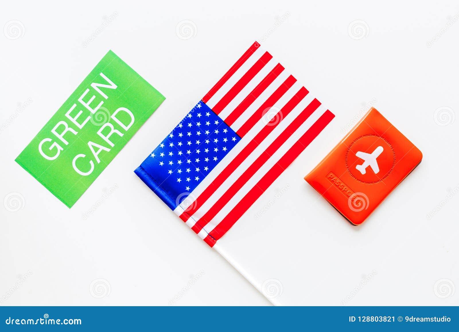 Cartes De Résident Des Etats Unis Damérique Concept Dimmigration