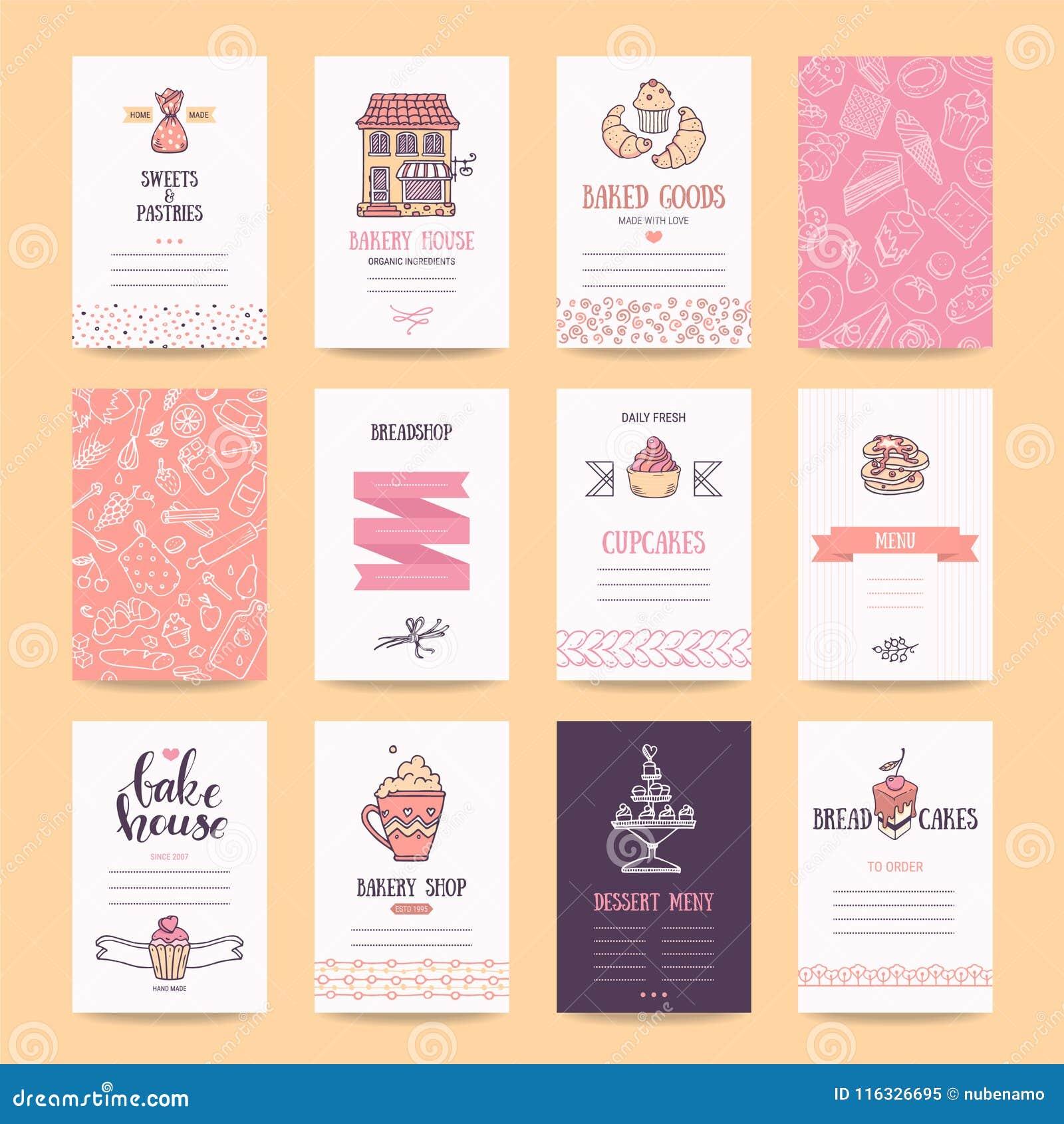 Cartes De Visite Professionnelle Boulangerie Et Boutique Patisserie Affiche Cafe Menu Restaurant Insectes Nourriture