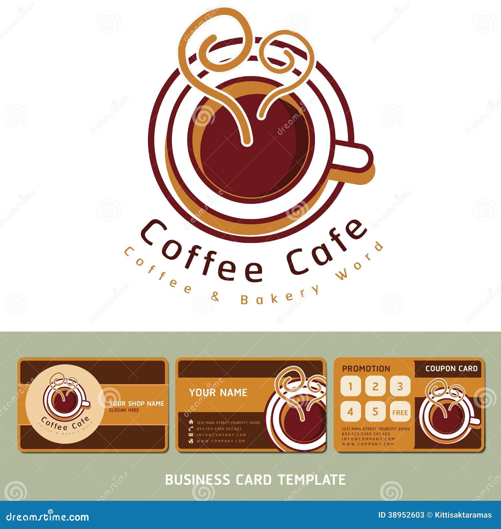 Cartes De Visite Professionnelle Logo Et D Icne Caf
