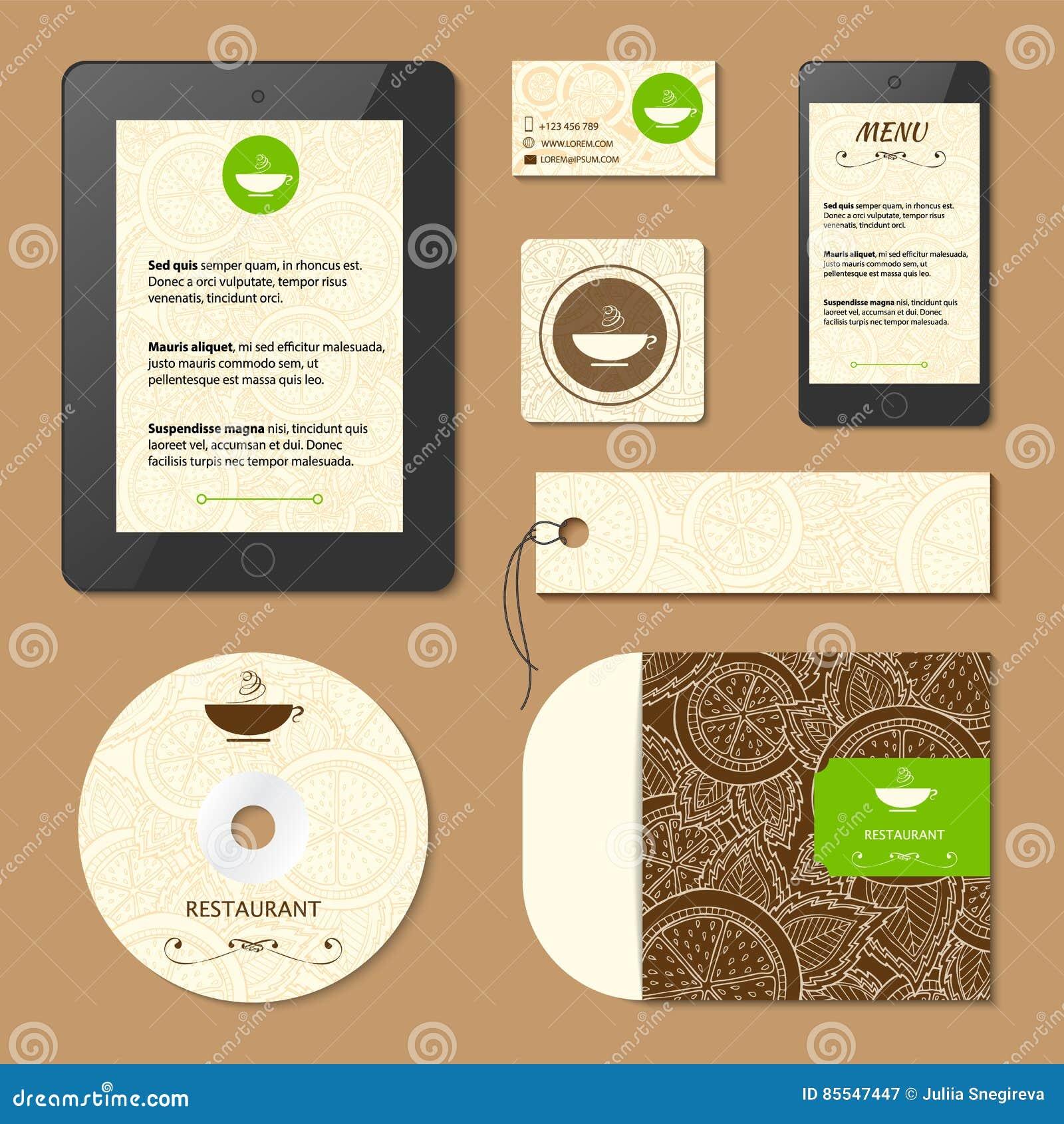 Cartes De Visite Professionnelle Menu Et Pour Le Caf Restaurant Carte