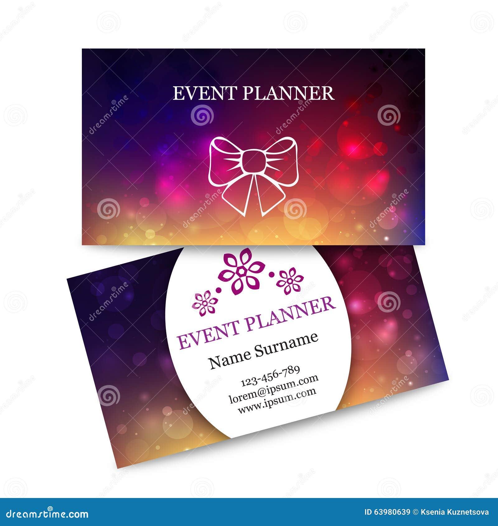 Cartes De Visite Professionnelle Colores Calibre Pour L Organisateur