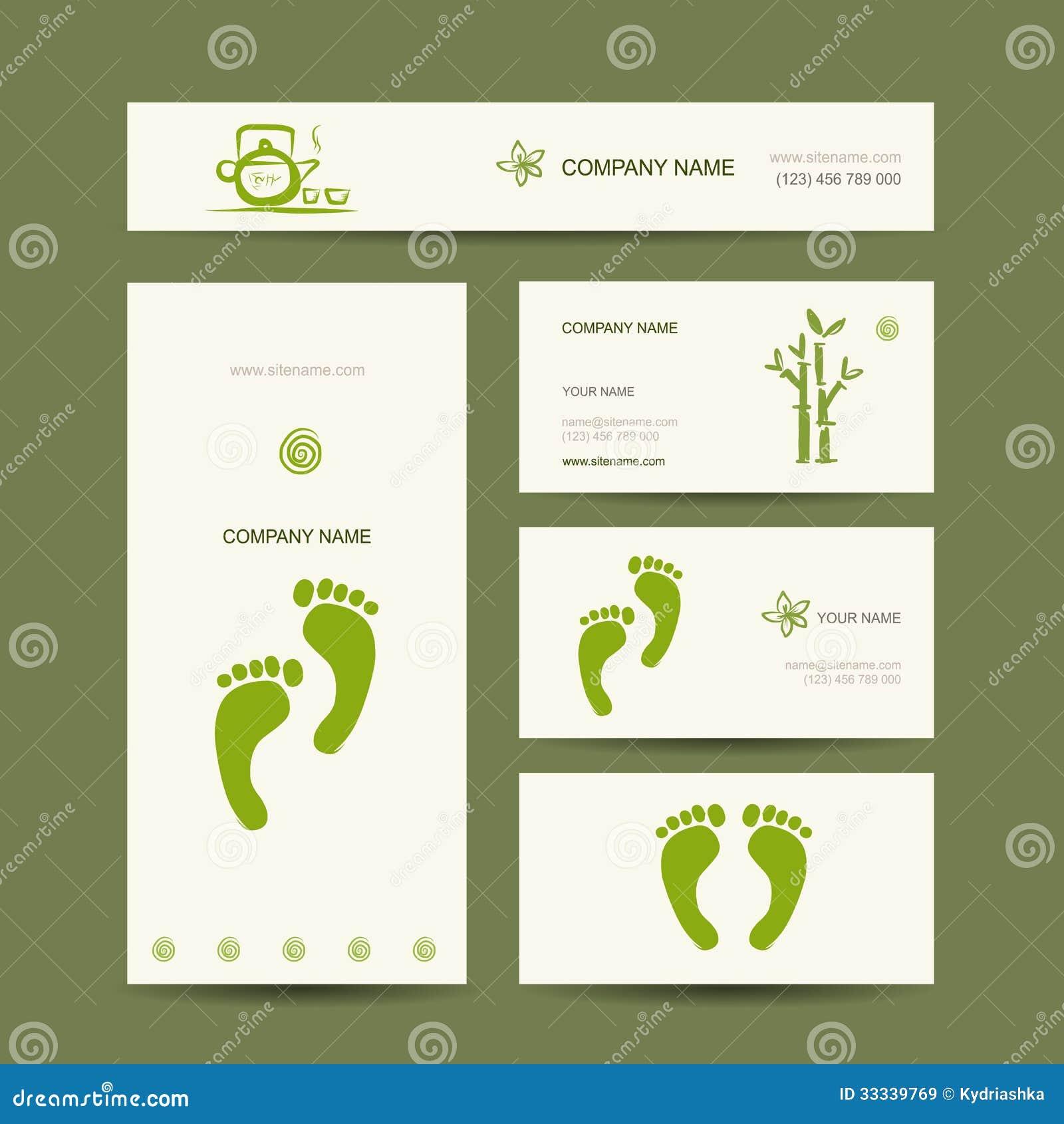 Cartes De Visite Professionnelle Conception Massage Pied