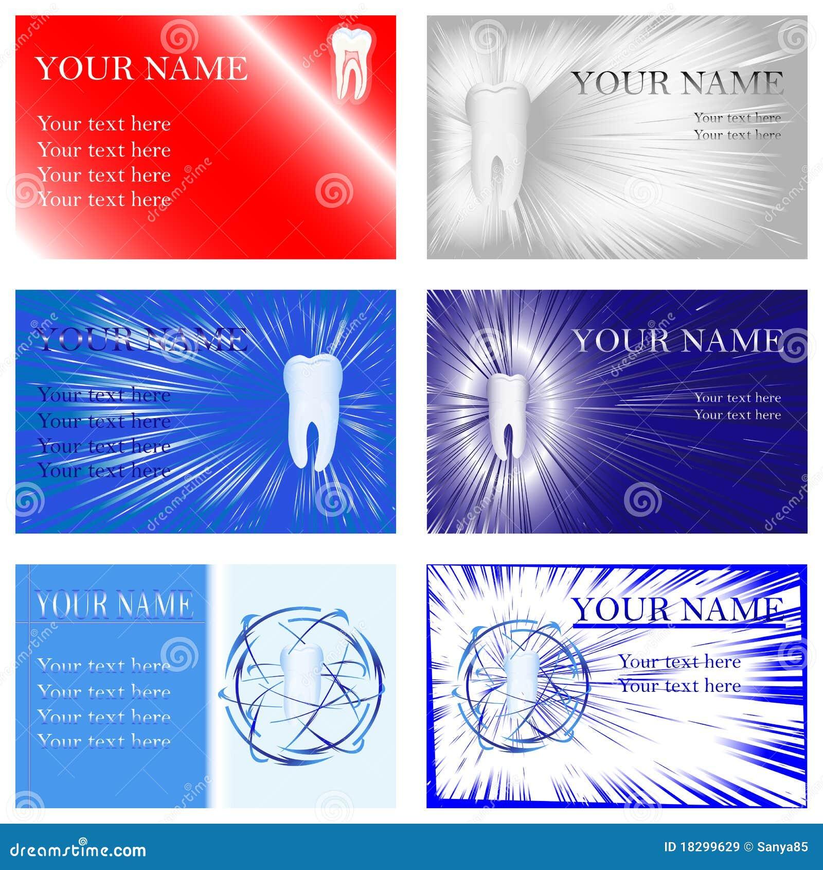 Cartes De Visite Professionnelle Dentaires