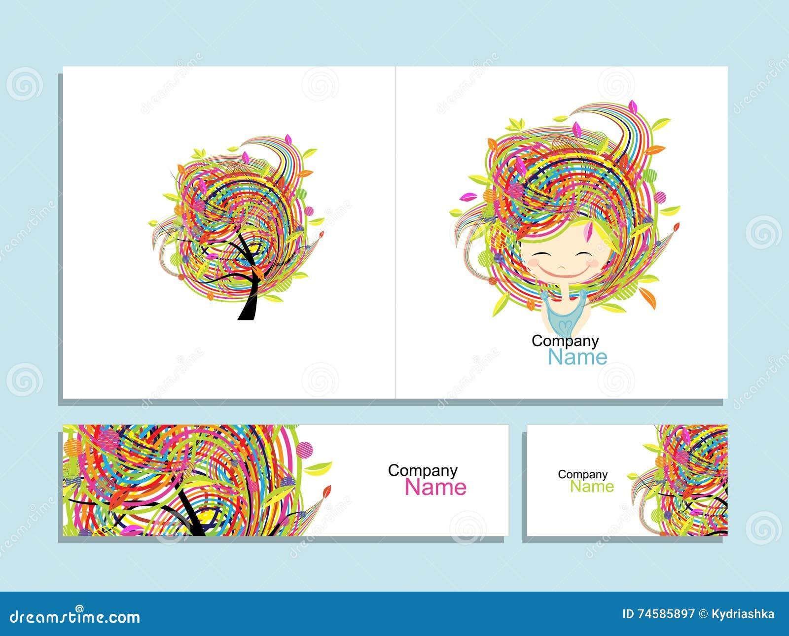 Cartes De Visite Professionnelle Fille Florale Pour Votre Conception