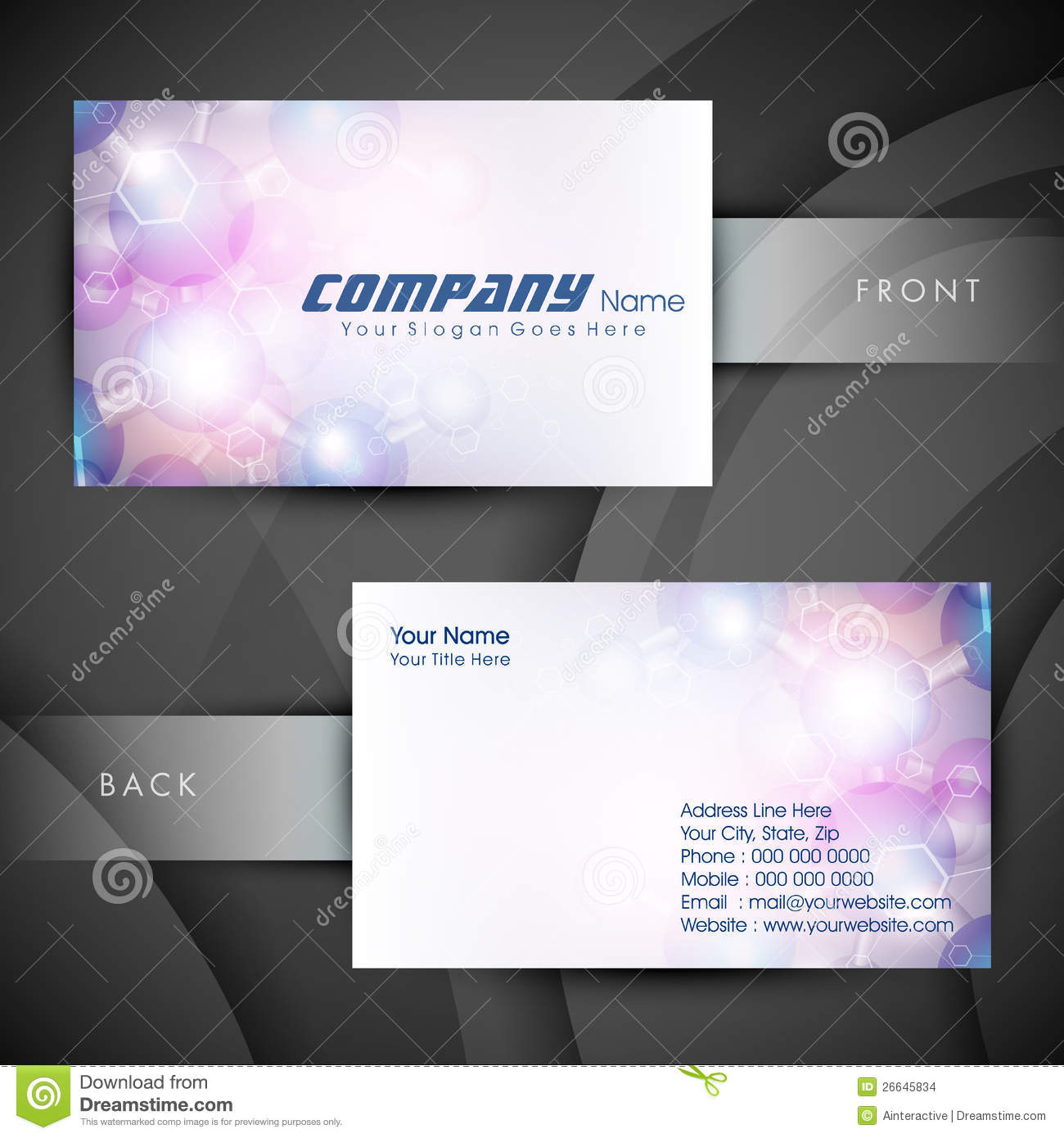 Download Cartes De Visite Professionnelle Ou Carte Medicales Illustration Stock